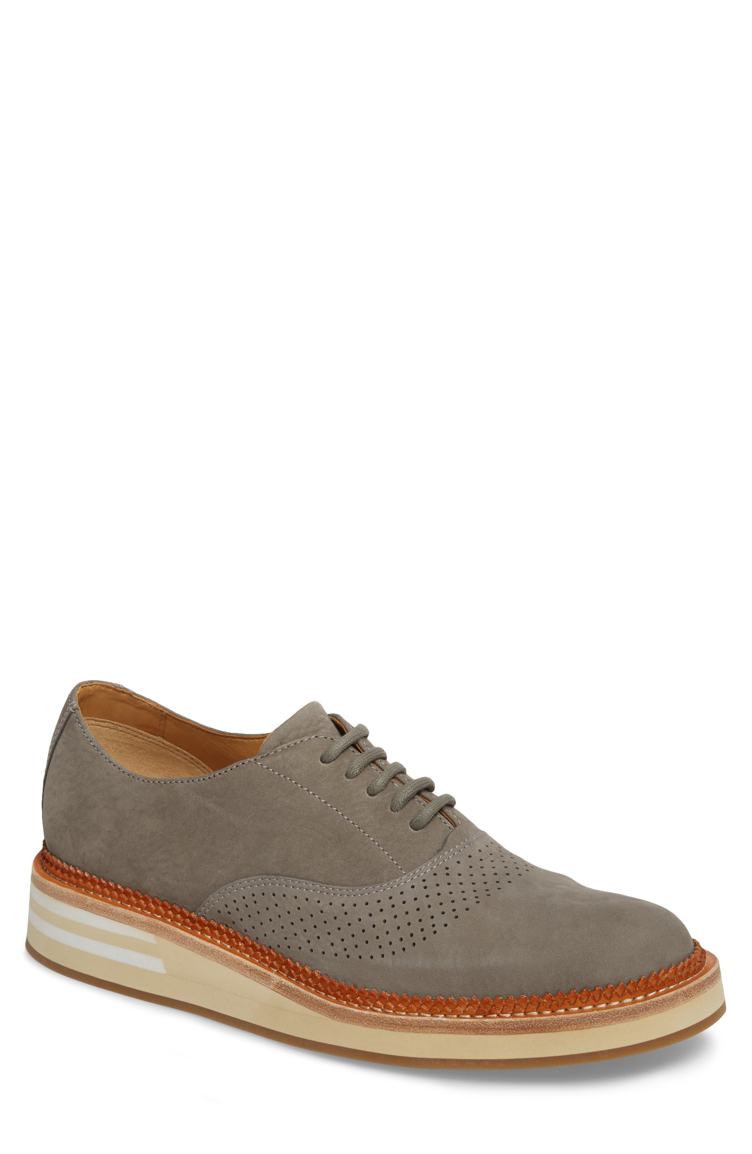 Cloud Perforated Oxford,                             Main thumbnail 1, color,                             Grey