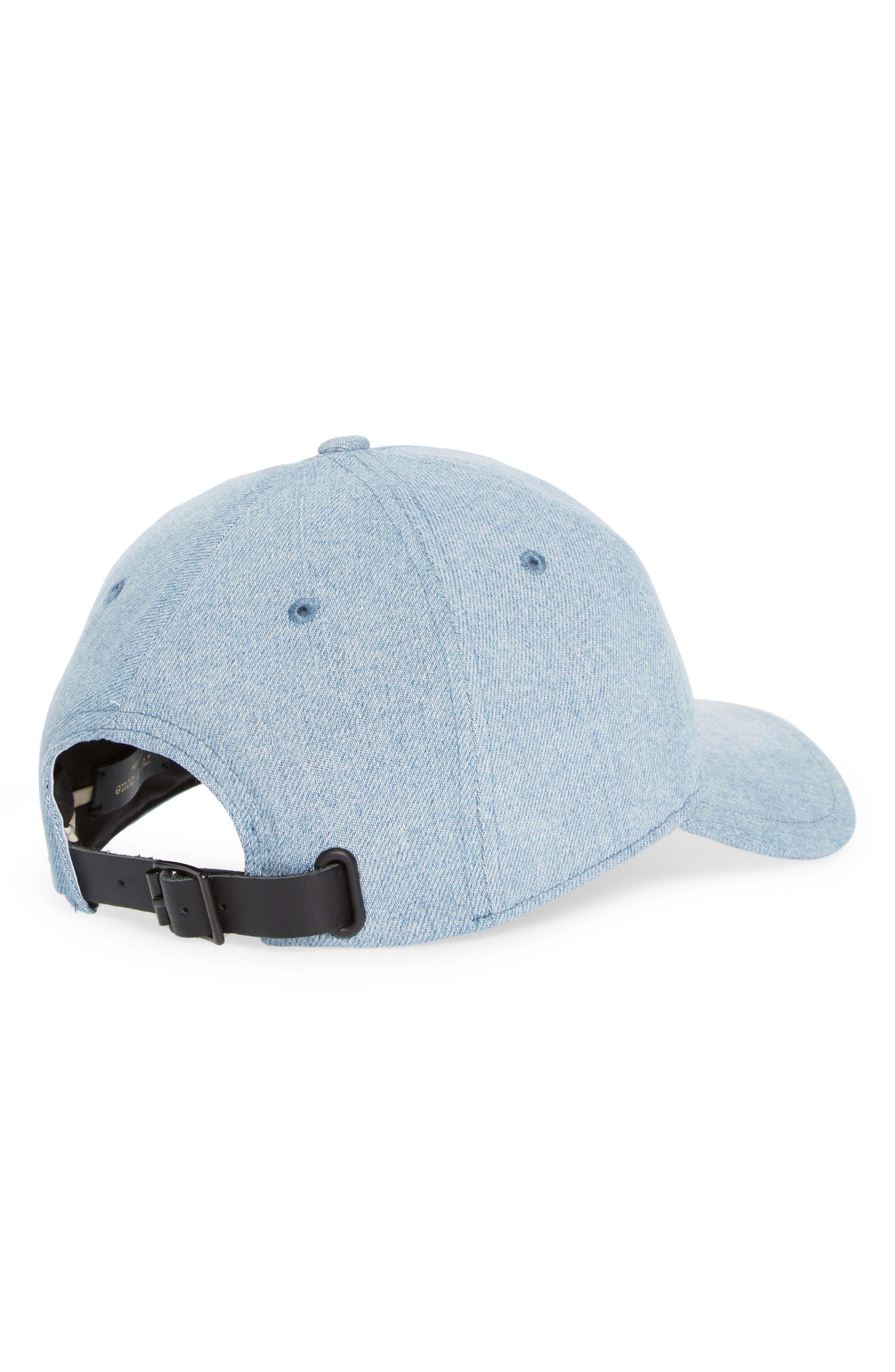 Marilyn Leather-trimmed Denim Baseball Cap - Light denim Rag & Bone GJPPKU