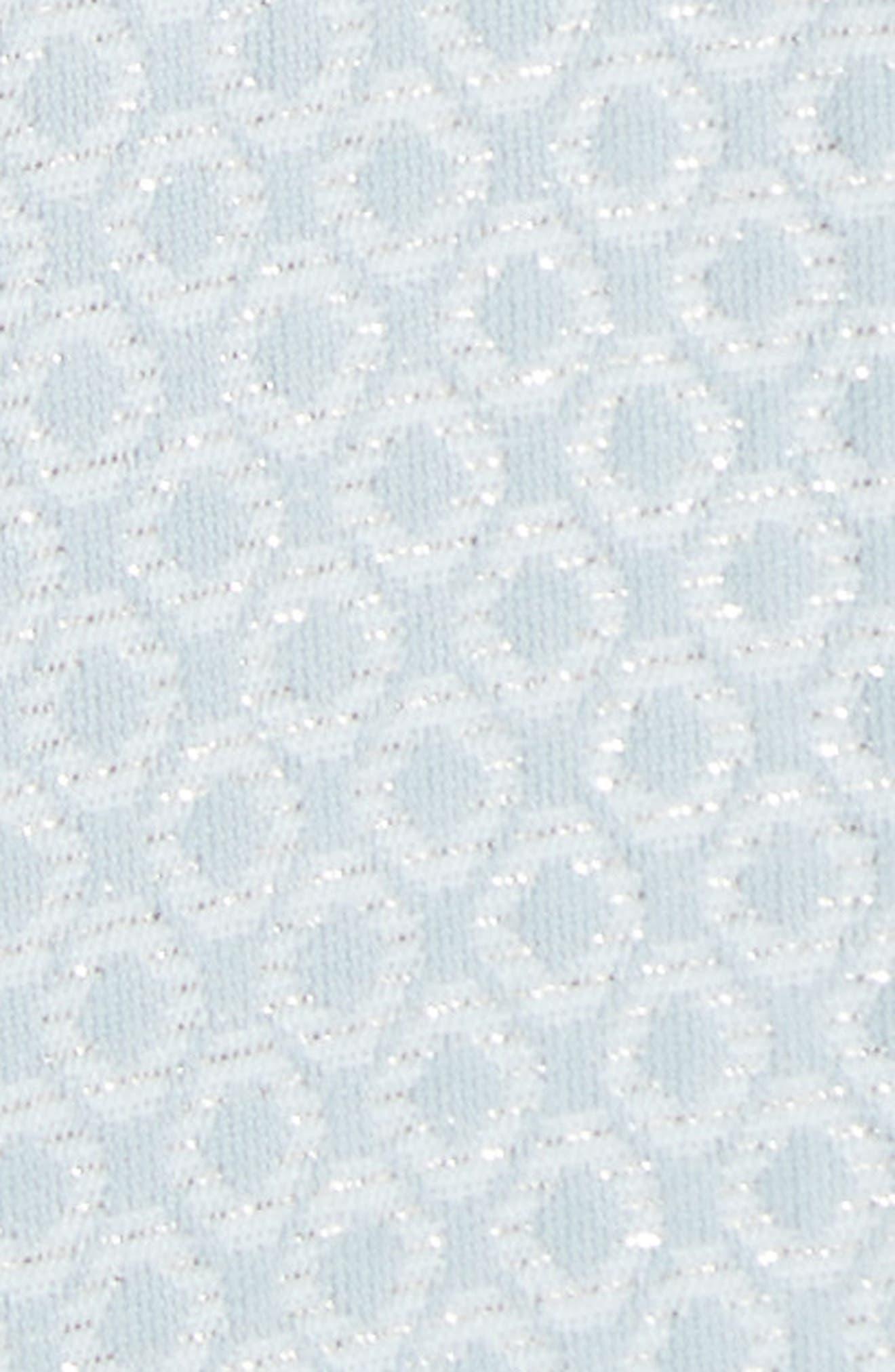Cold Shoulder Skater Dress,                             Alternate thumbnail 5, color,                             Baby Blue