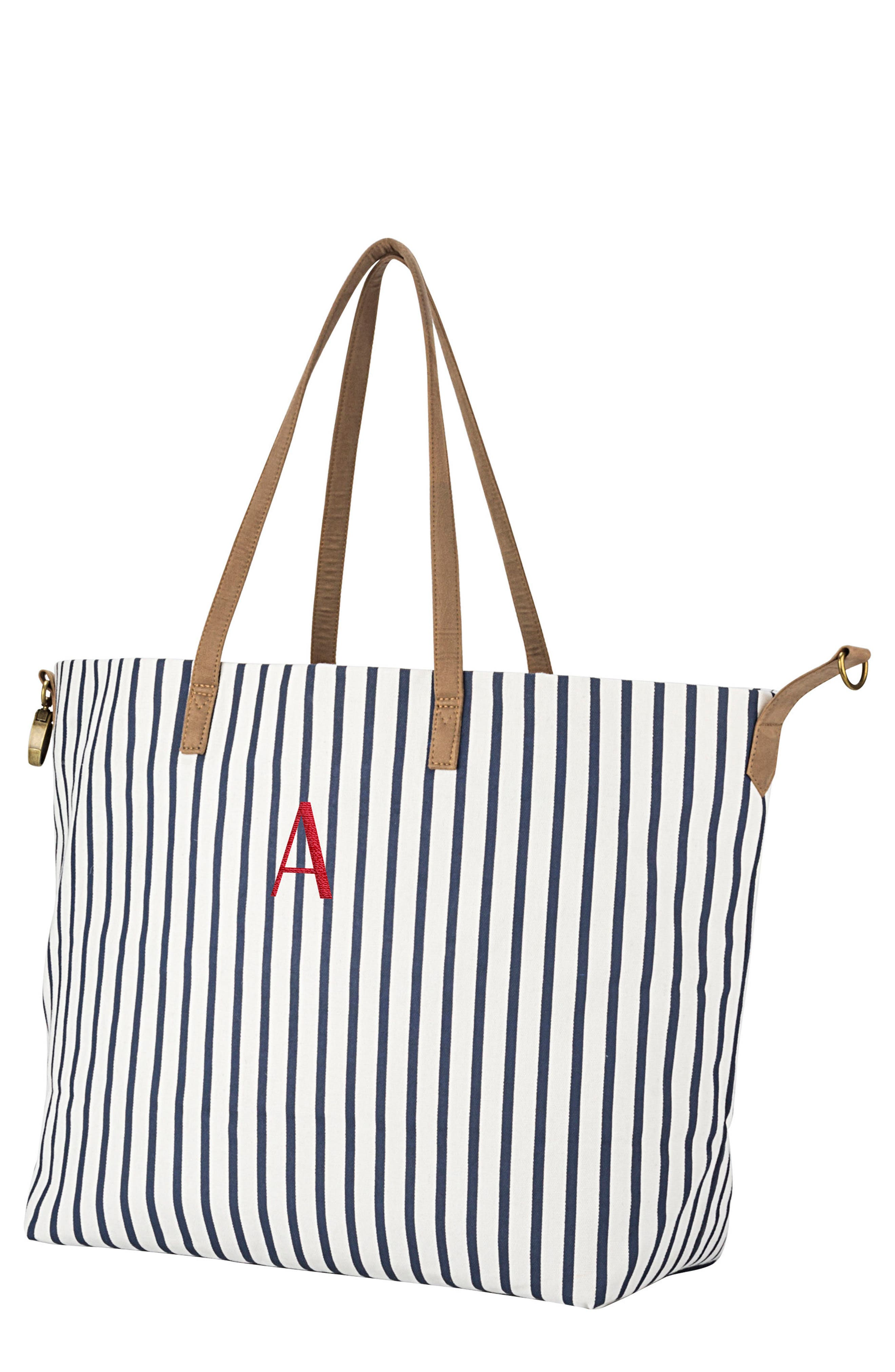 Monogram Overnight Tote,                             Main thumbnail 1, color,                             Blue A