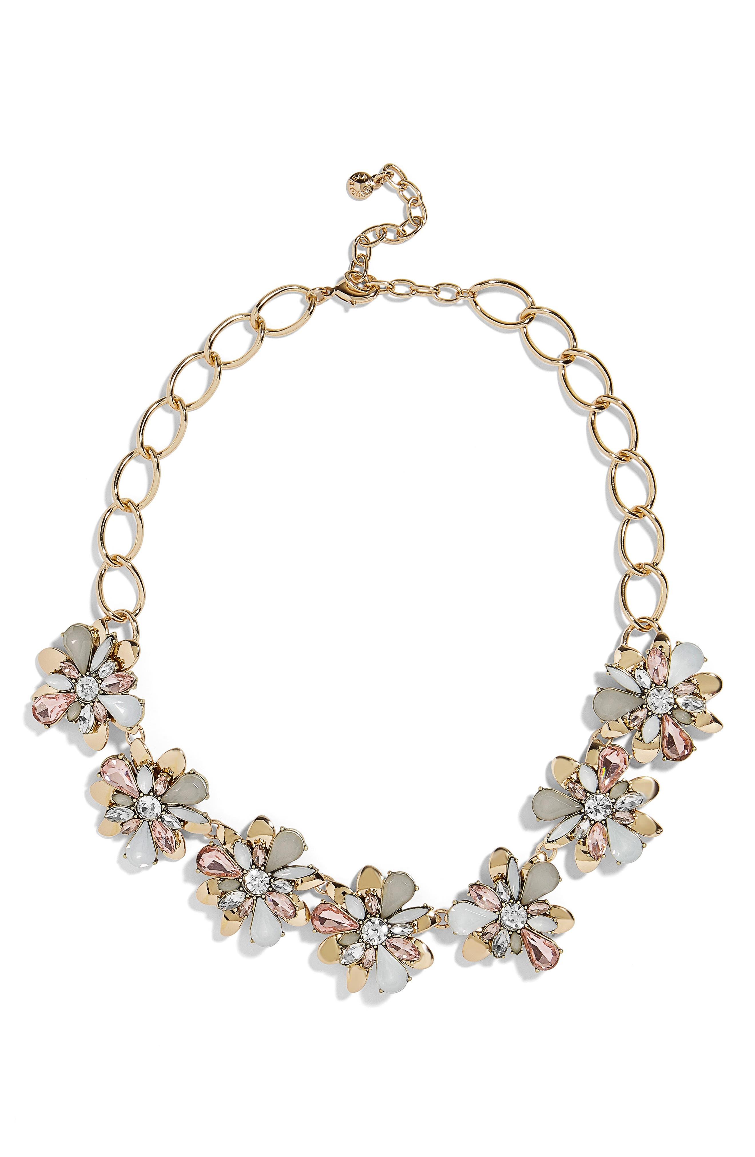 BaubleBar Fiorella Crystal Flower Statement Necklace