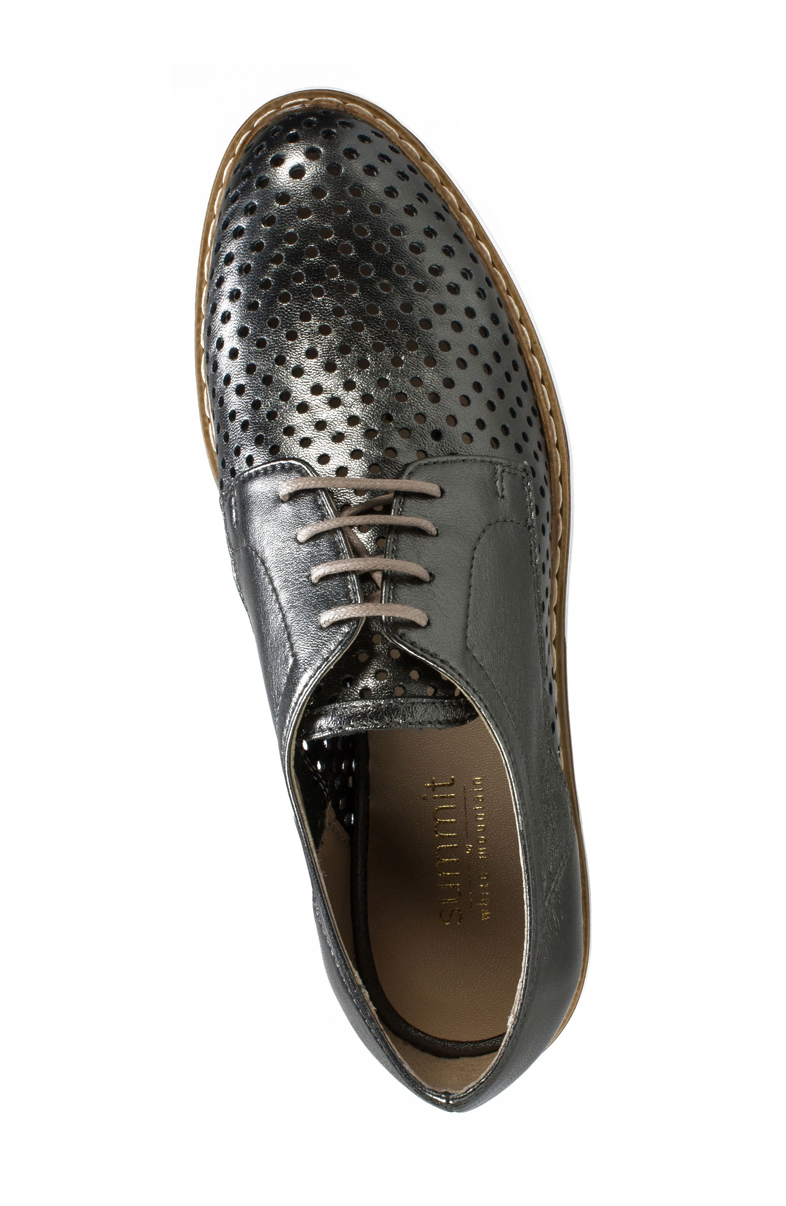Bria Derby,                             Alternate thumbnail 5, color,                             Pewter Leather