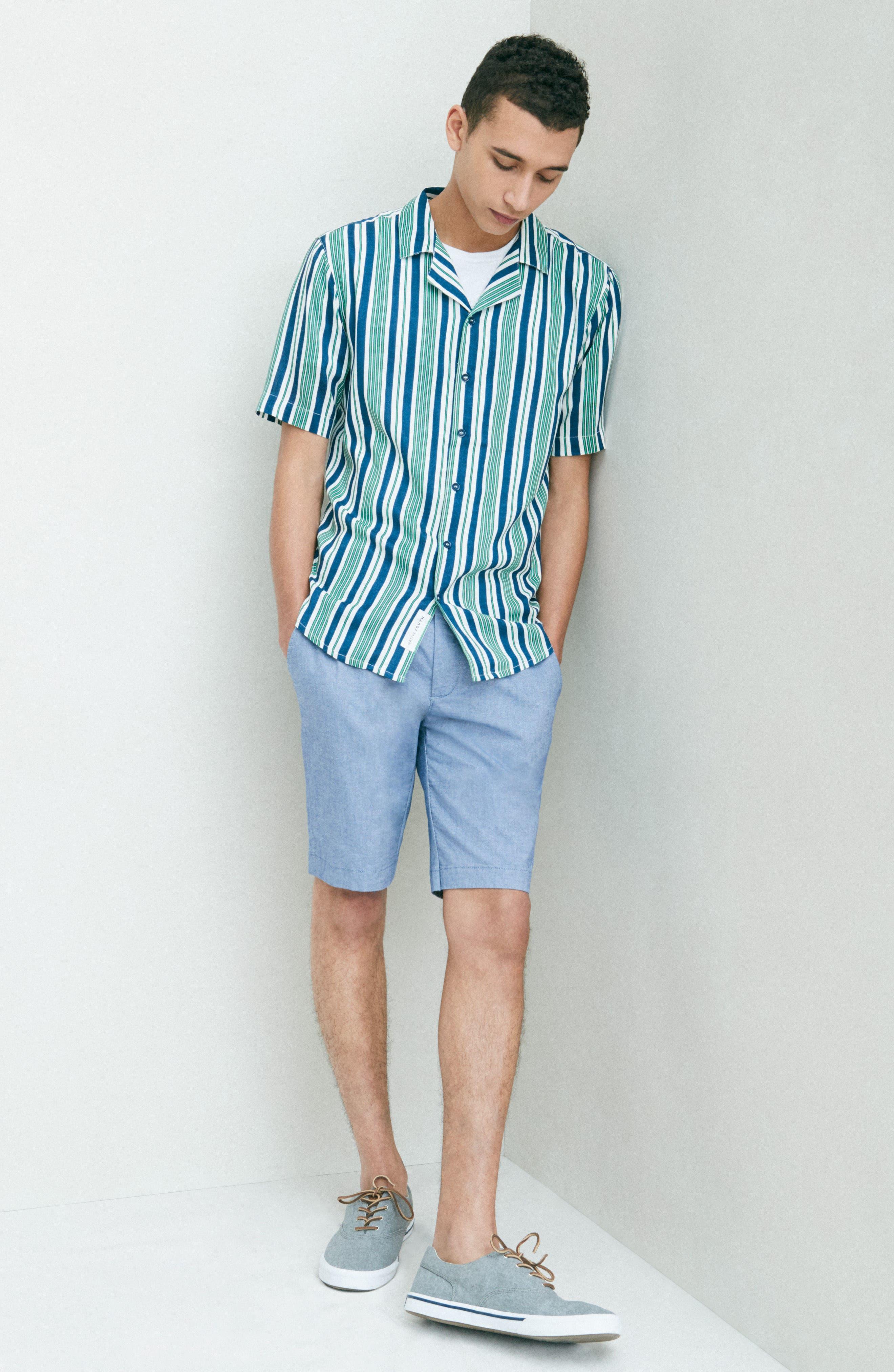Bay Stripe Woven Shirt,                             Alternate thumbnail 7, color,