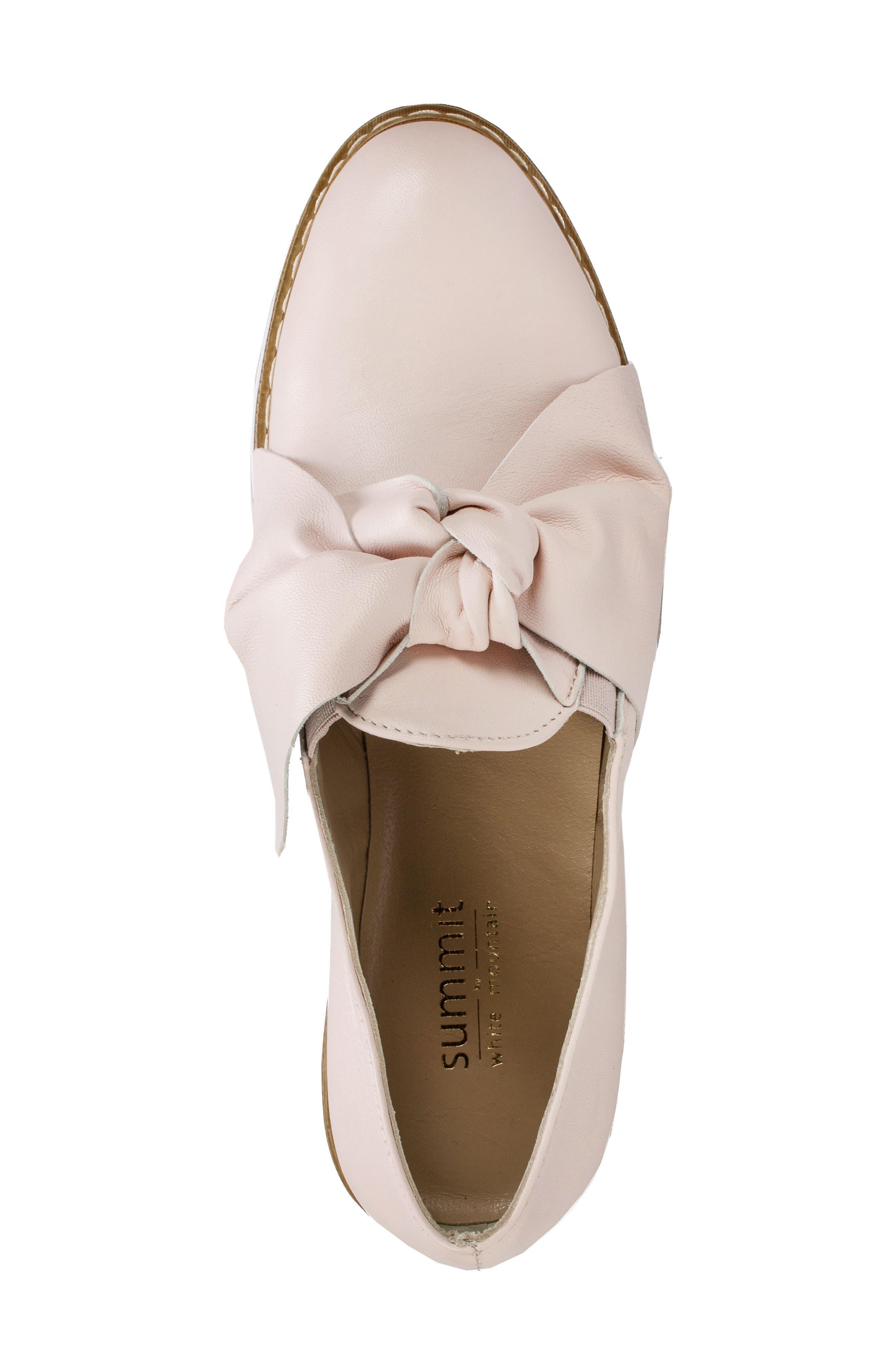 Bella Platform Loafer,                             Alternate thumbnail 5, color,                             Pink Leather