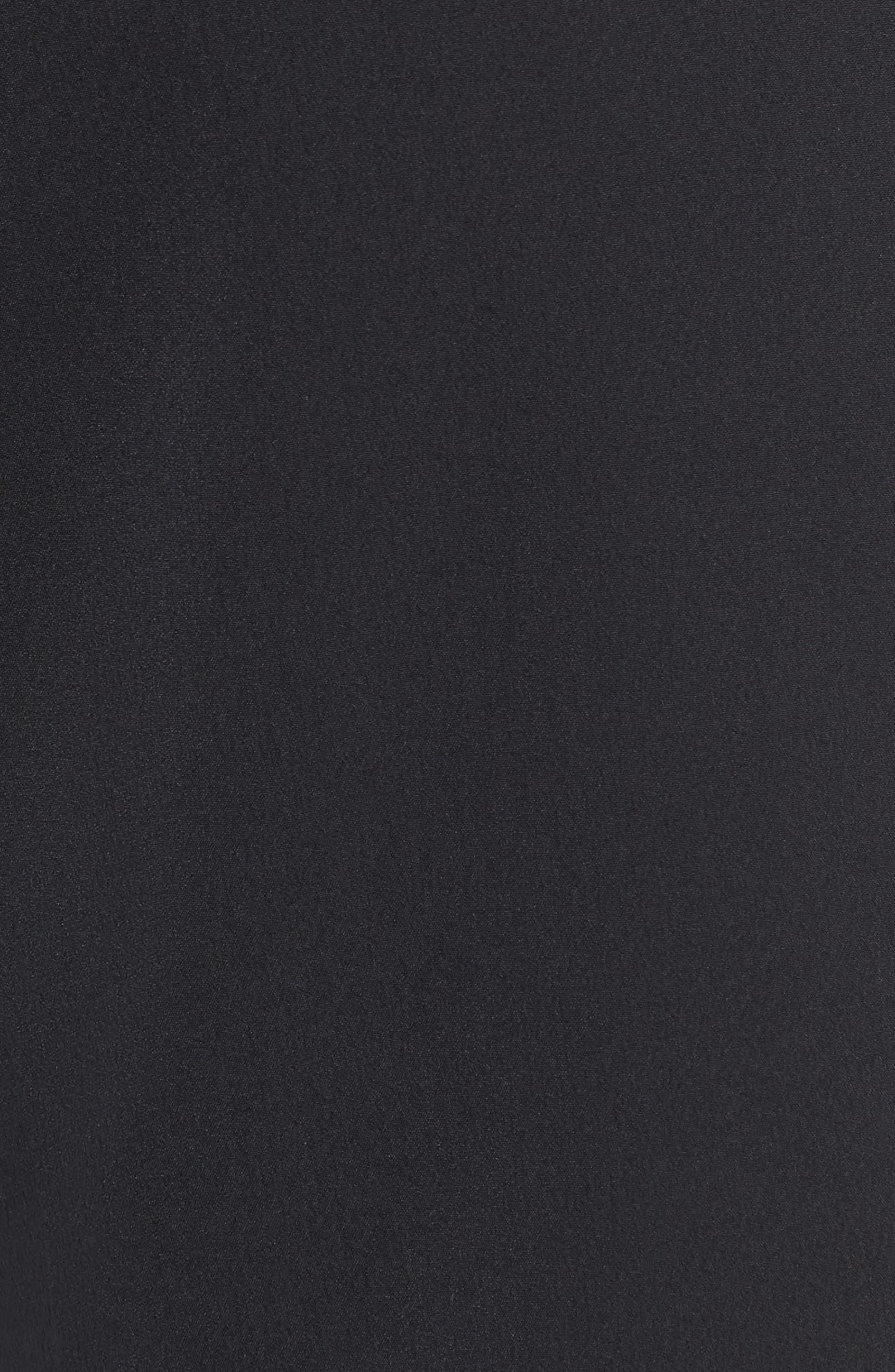 Dry Flex Slim Fit Golf Shorts,                             Alternate thumbnail 5, color,                             Black/ Black
