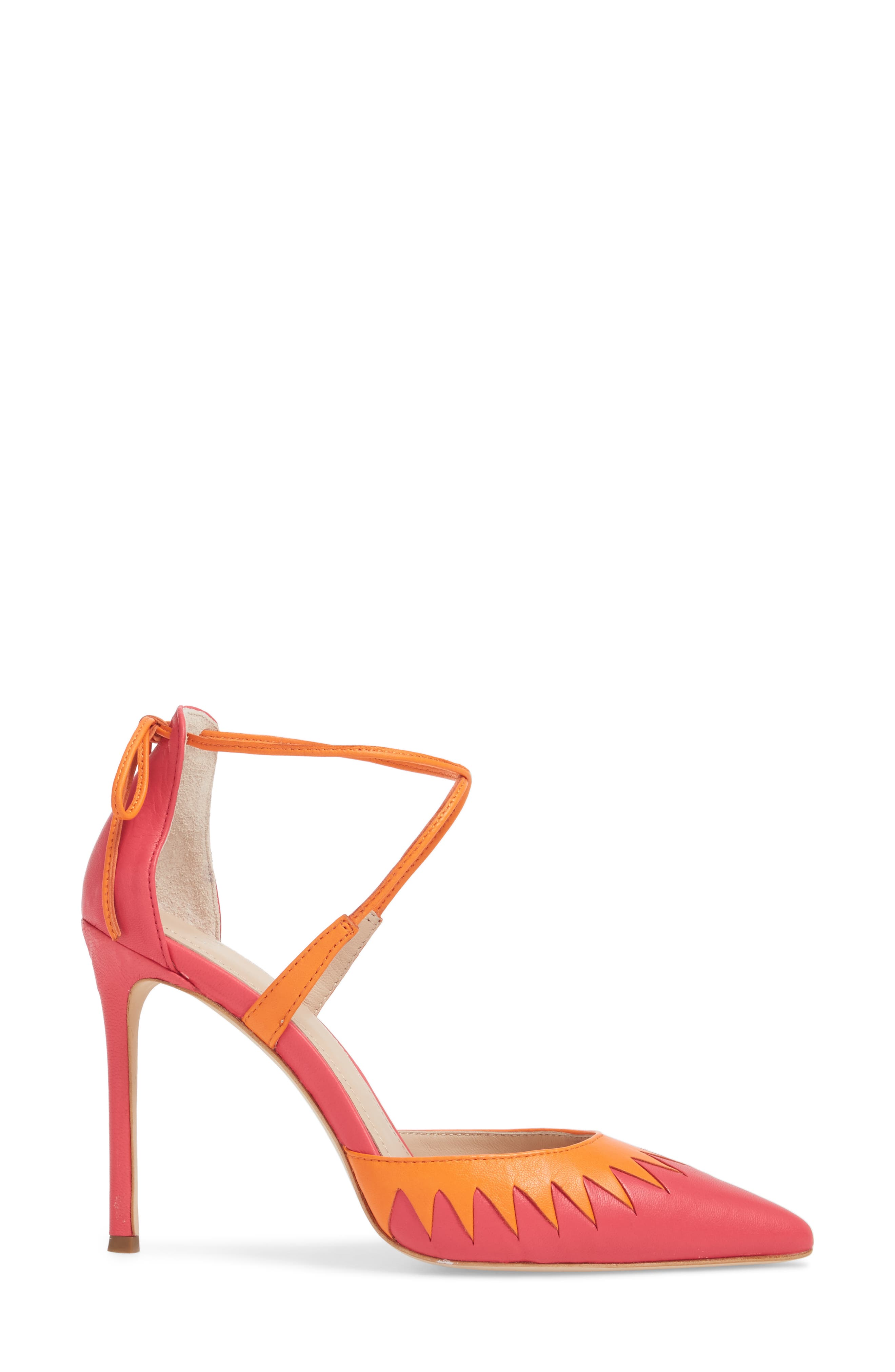Cenya Pump,                             Alternate thumbnail 3, color,                             Azalea/ Orange Blossom Leather