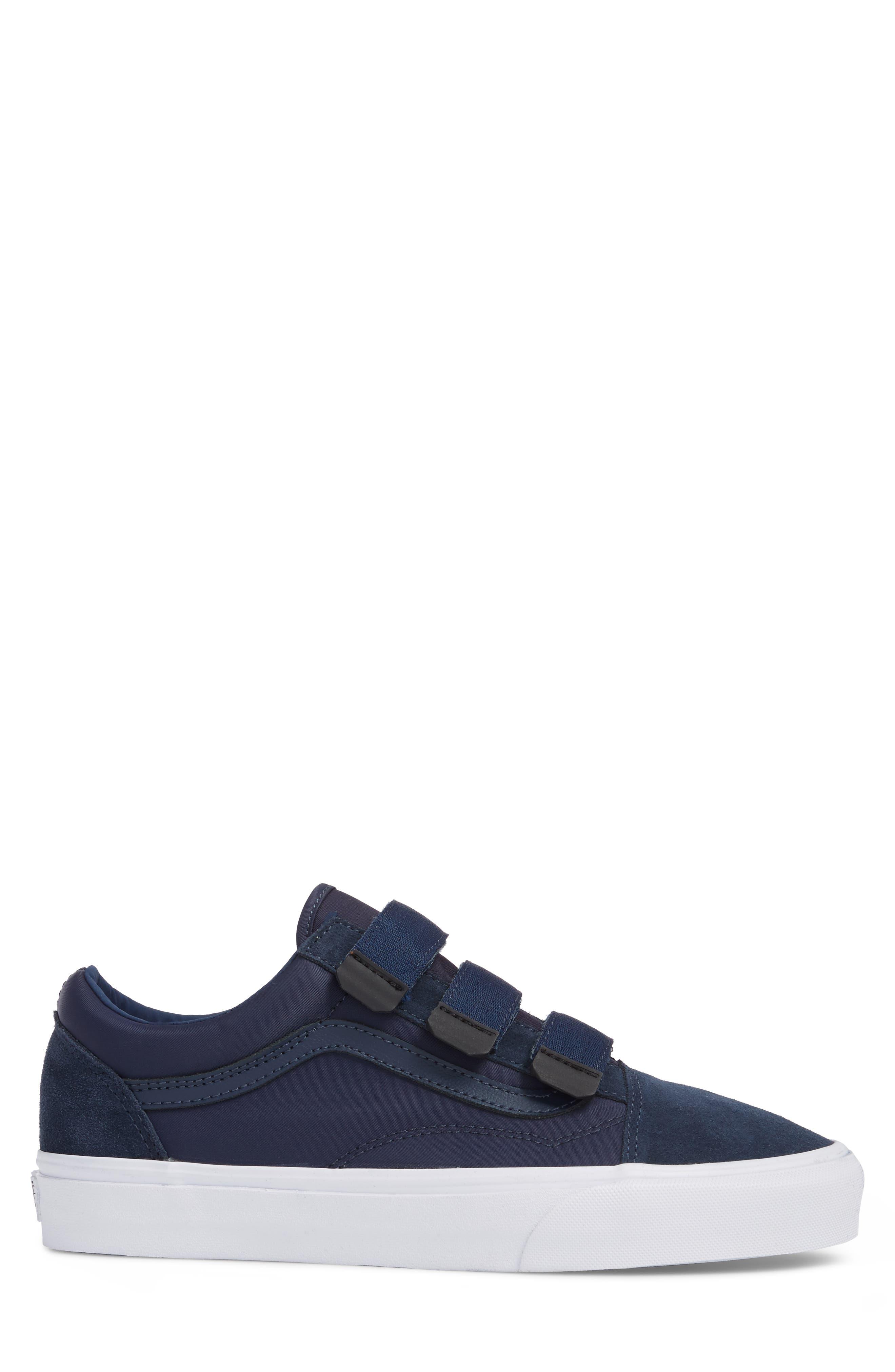 Old School V-Sneaker,                             Alternate thumbnail 3, color,                             Dress Blues