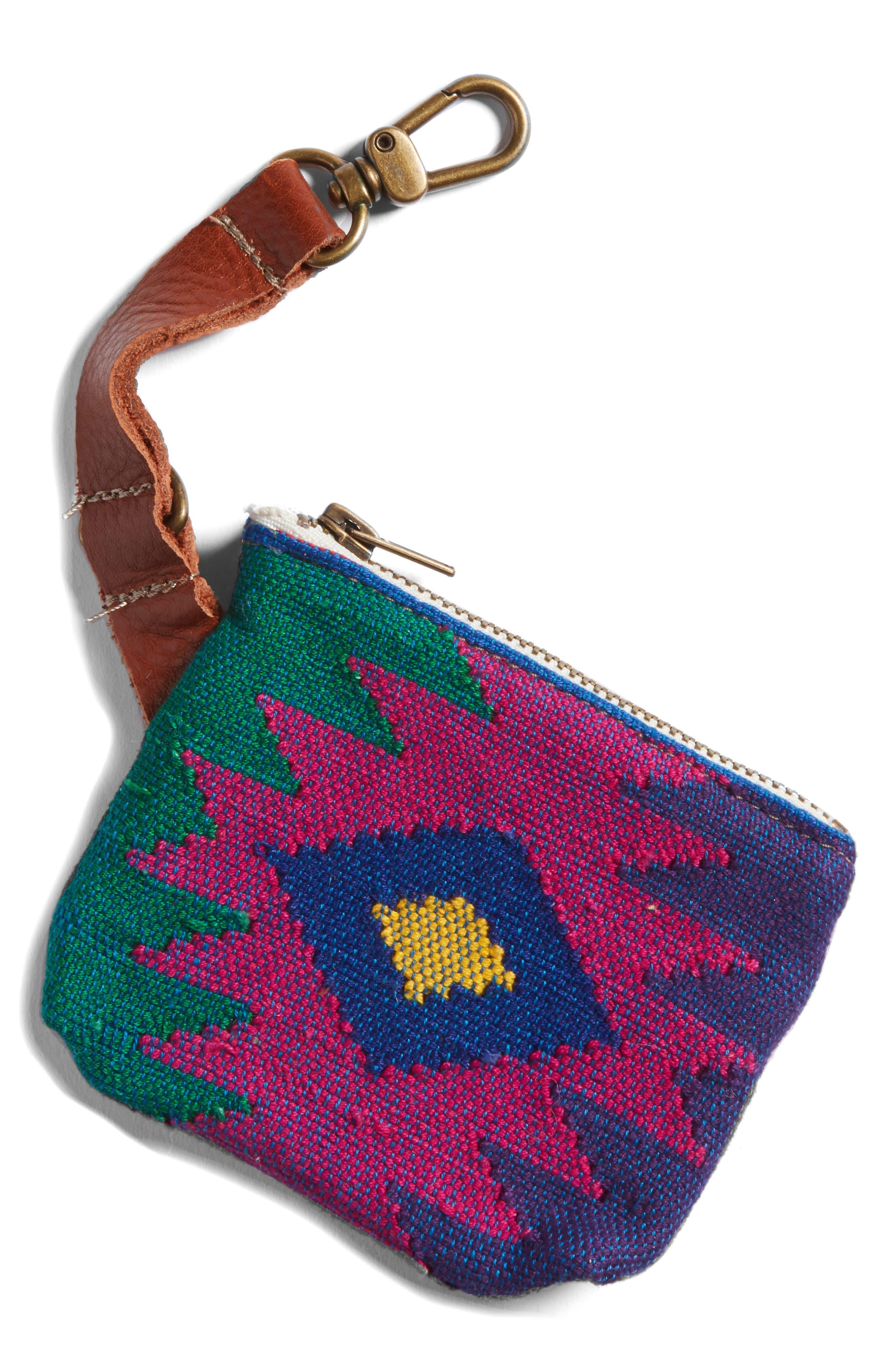 Oaxaca Sunburst Waste Bag Pouch,                             Main thumbnail 1, color,                             Oxaca Green/ Purple