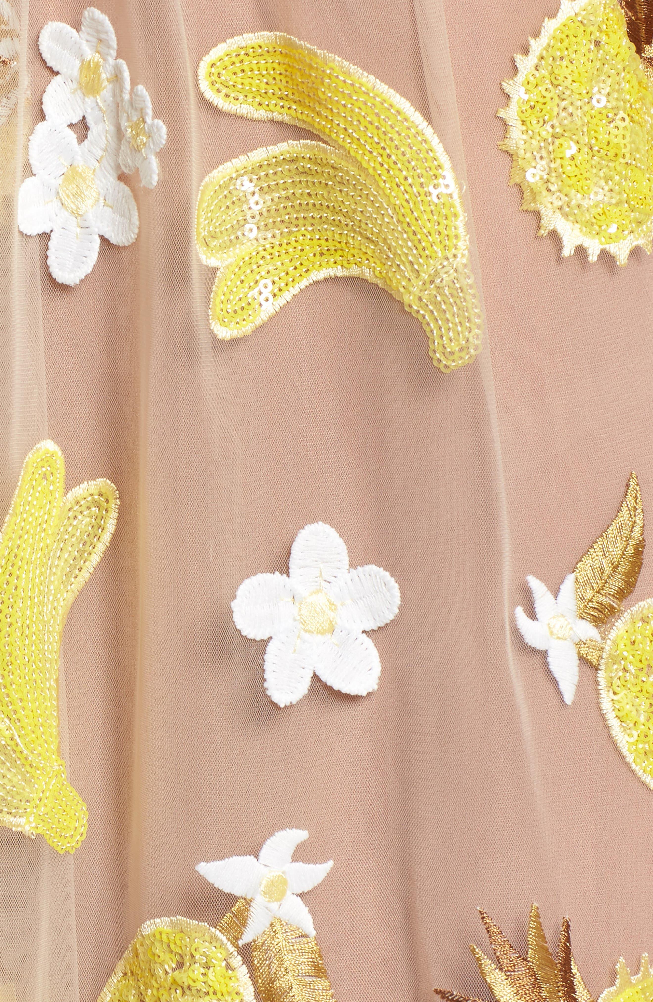 Fruitpunch Sequin Minidress,                             Alternate thumbnail 5, color,                             Pineapple