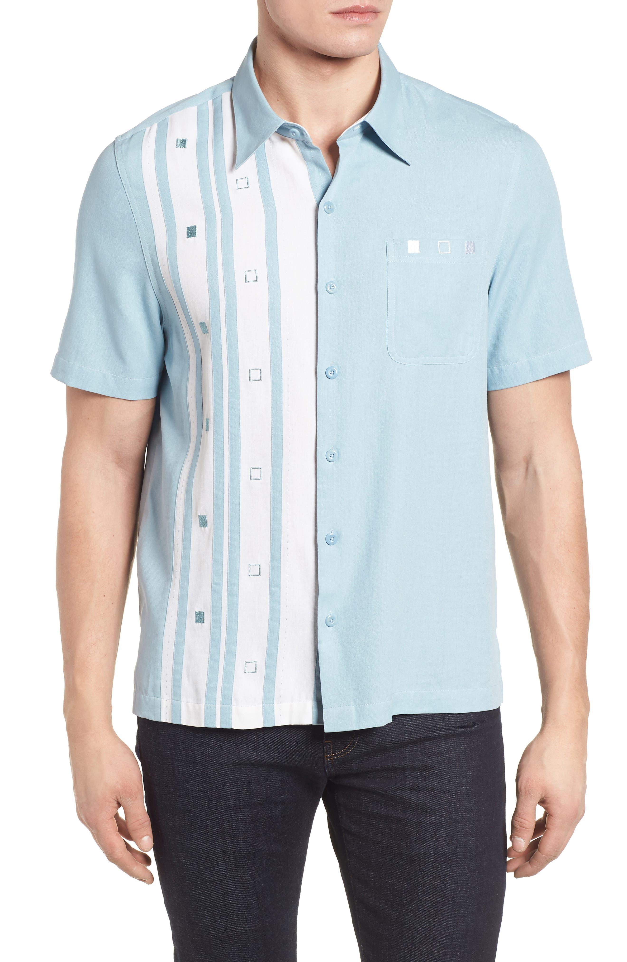 Retromod Camp Shirt,                         Main,                         color, Niagra Blue