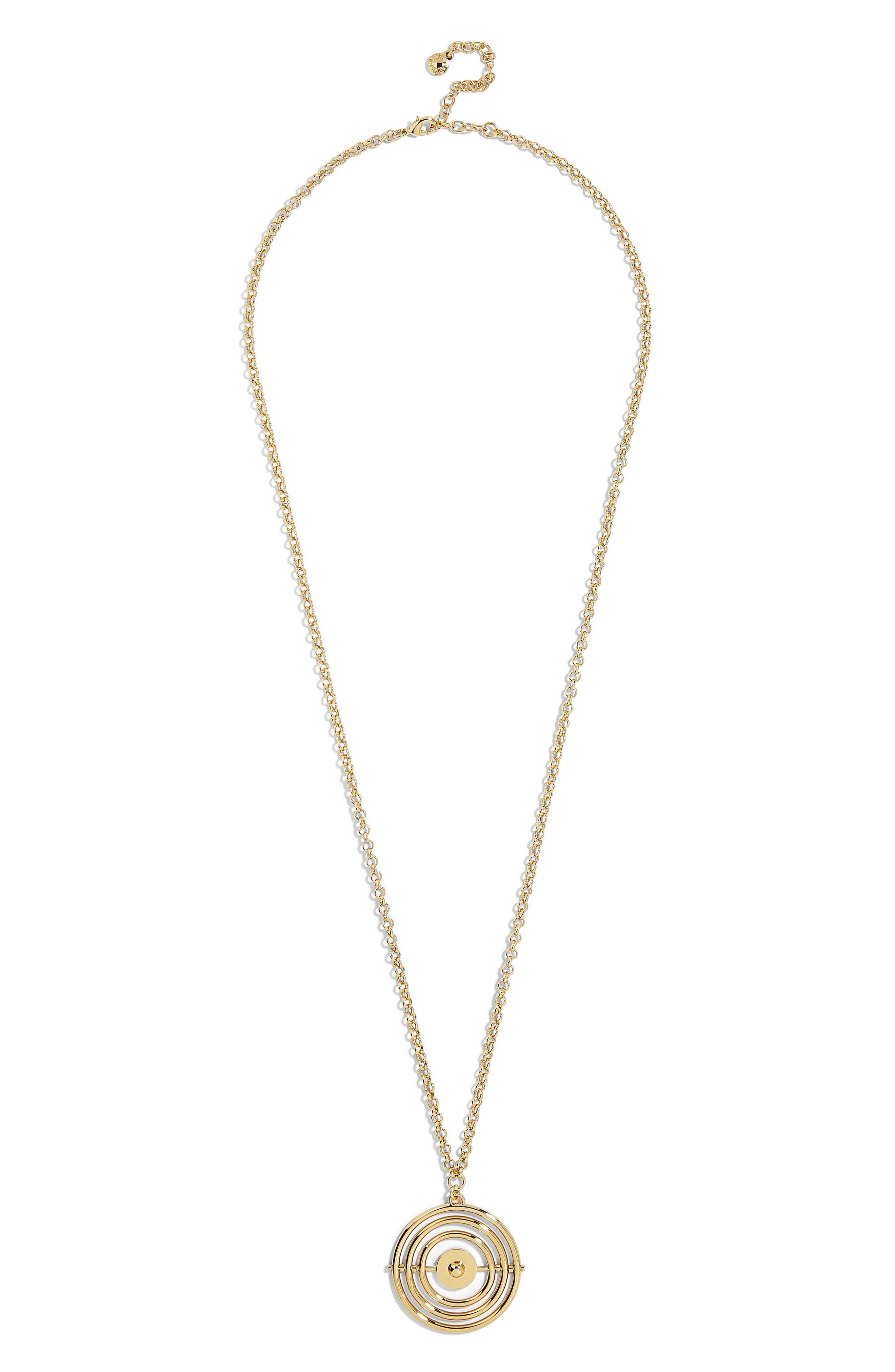BaubleBar Royelle Large Target Pendant Necklace
