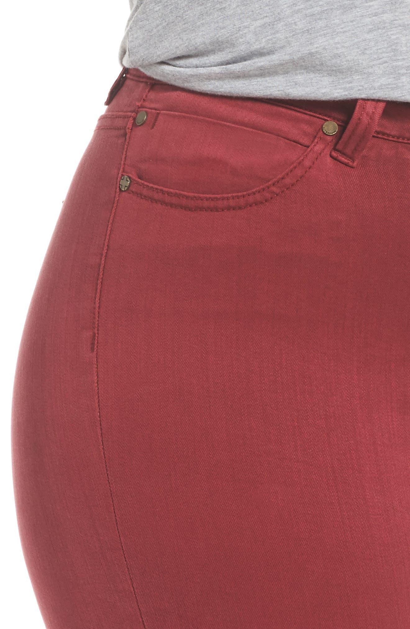 Abby Skinny Jeans,                             Alternate thumbnail 6, color,                             Biking Red