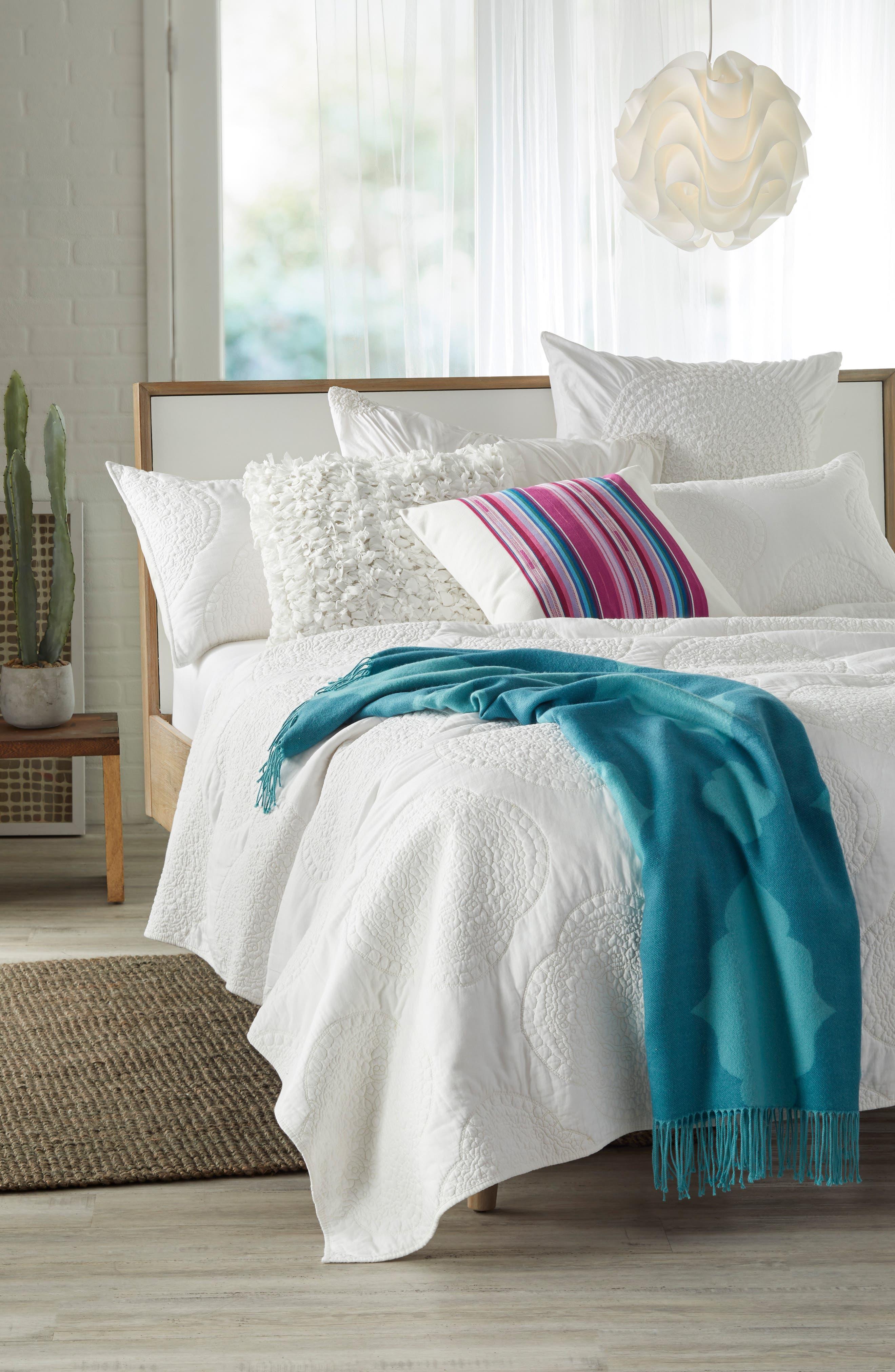 Serape Stripe Pillow,                             Alternate thumbnail 4, color,                             Multi