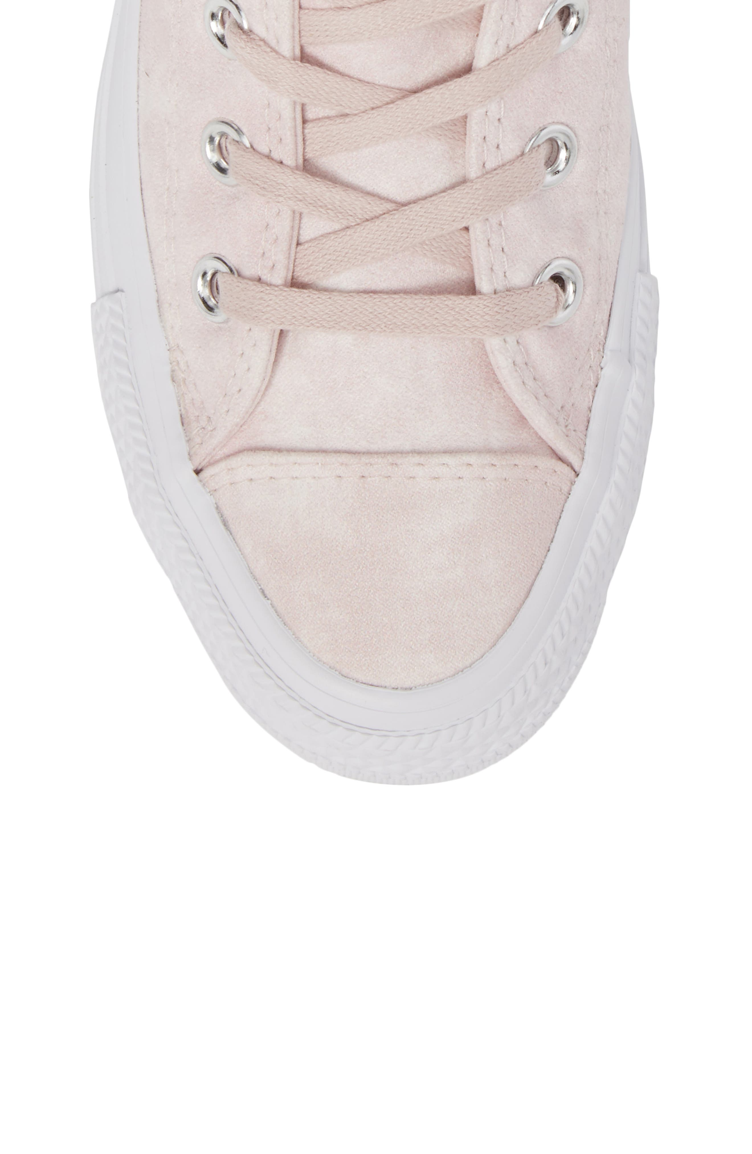 Chuck Taylor<sup>®</sup> All Star<sup>®</sup> Peached High Top Sneaker,                             Alternate thumbnail 5, color,                             Barely Rose
