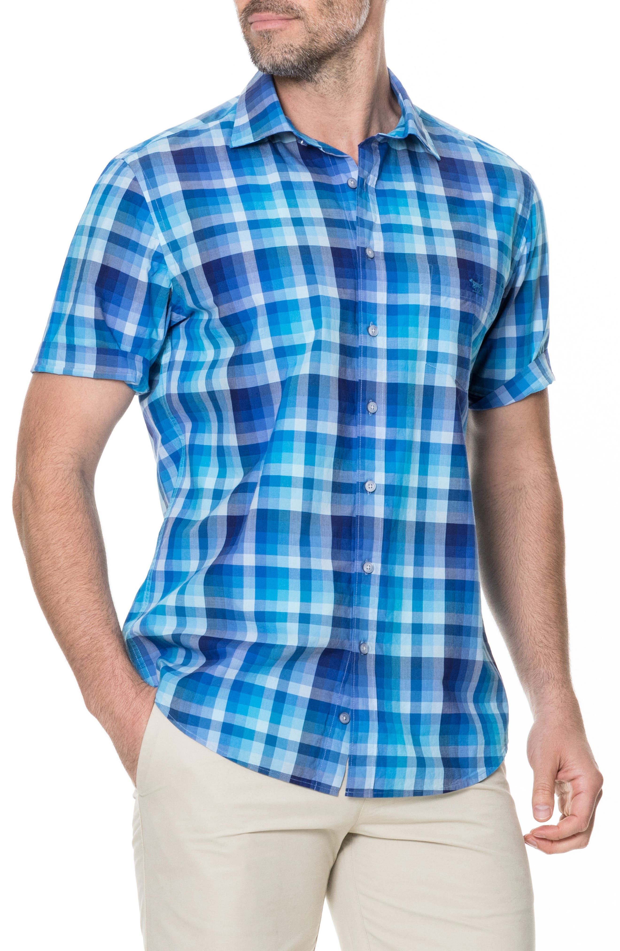 Elderslie Regular Fit Sport Shirt,                         Main,                         color, Ocean