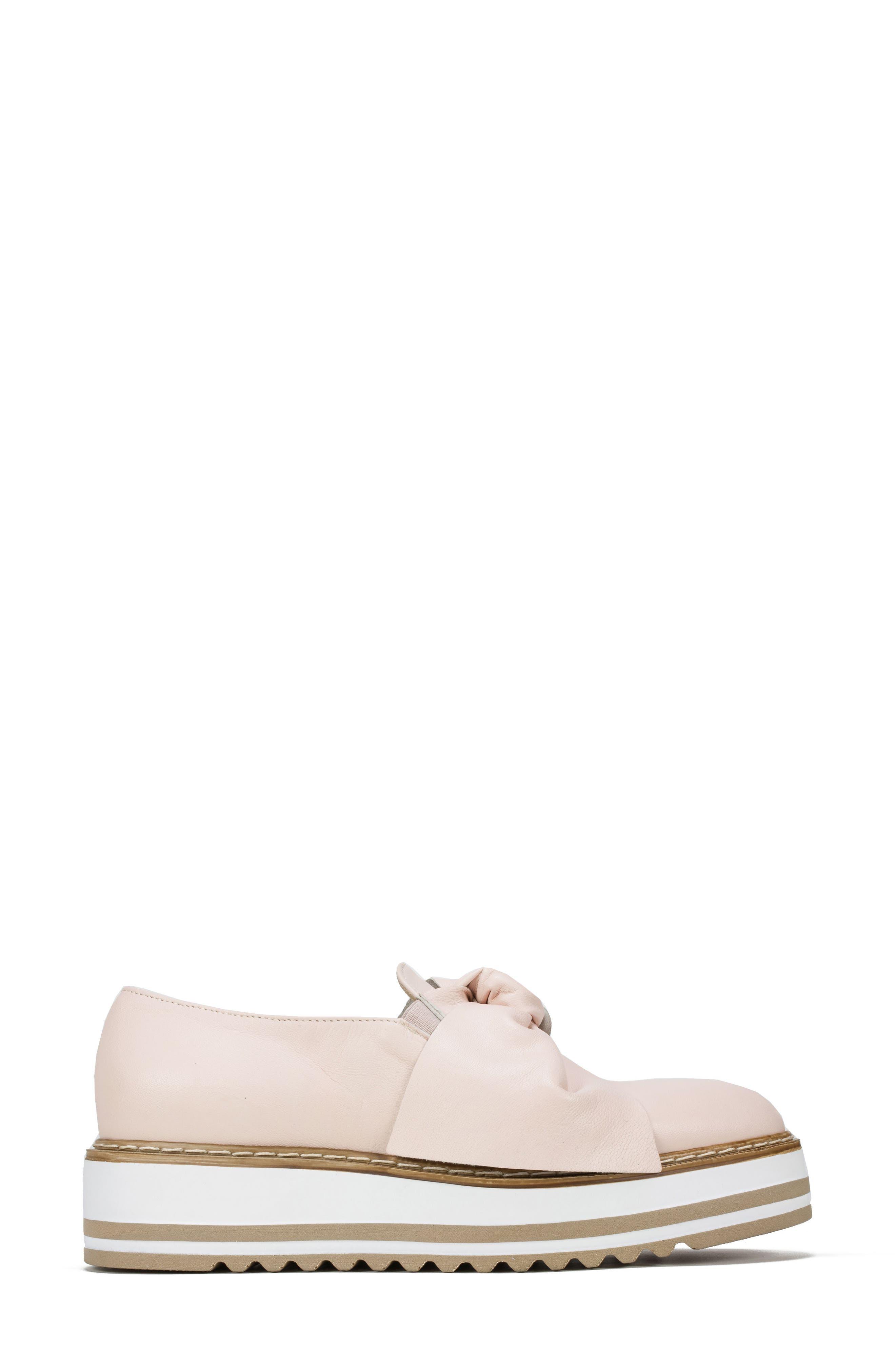 Bella Platform Loafer,                             Alternate thumbnail 3, color,                             Pink Leather