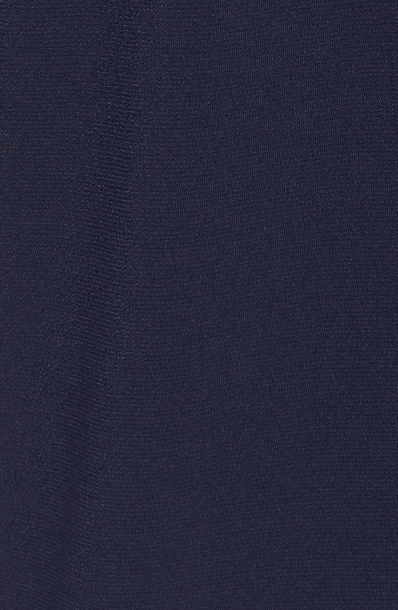 Off the Shoulder Crop Jumpsuit,                             Alternate thumbnail 5, color,                             True Navy