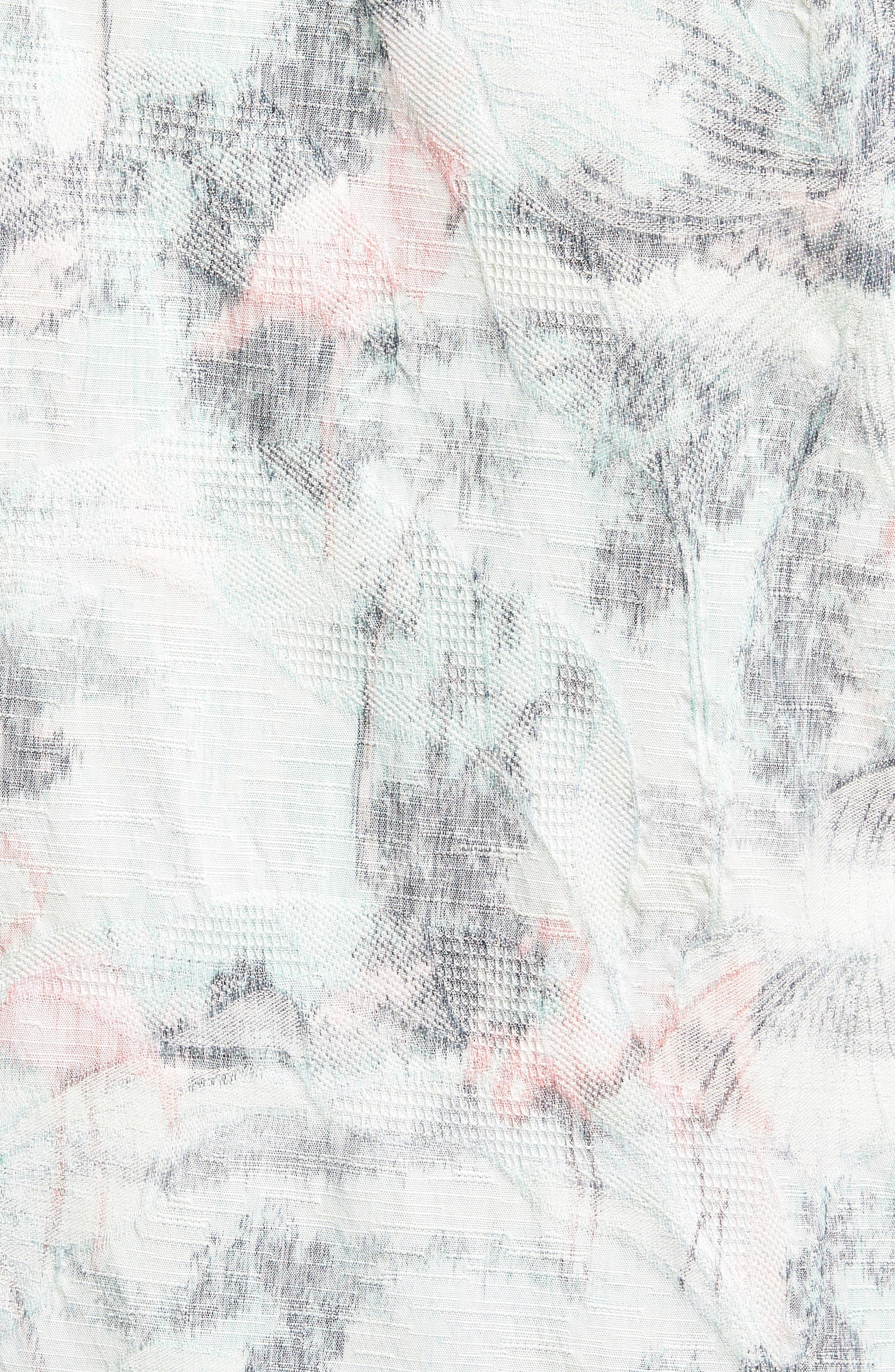 Flamingo Fade Camp Shirt,                             Alternate thumbnail 5, color,                             Dusty Aqua