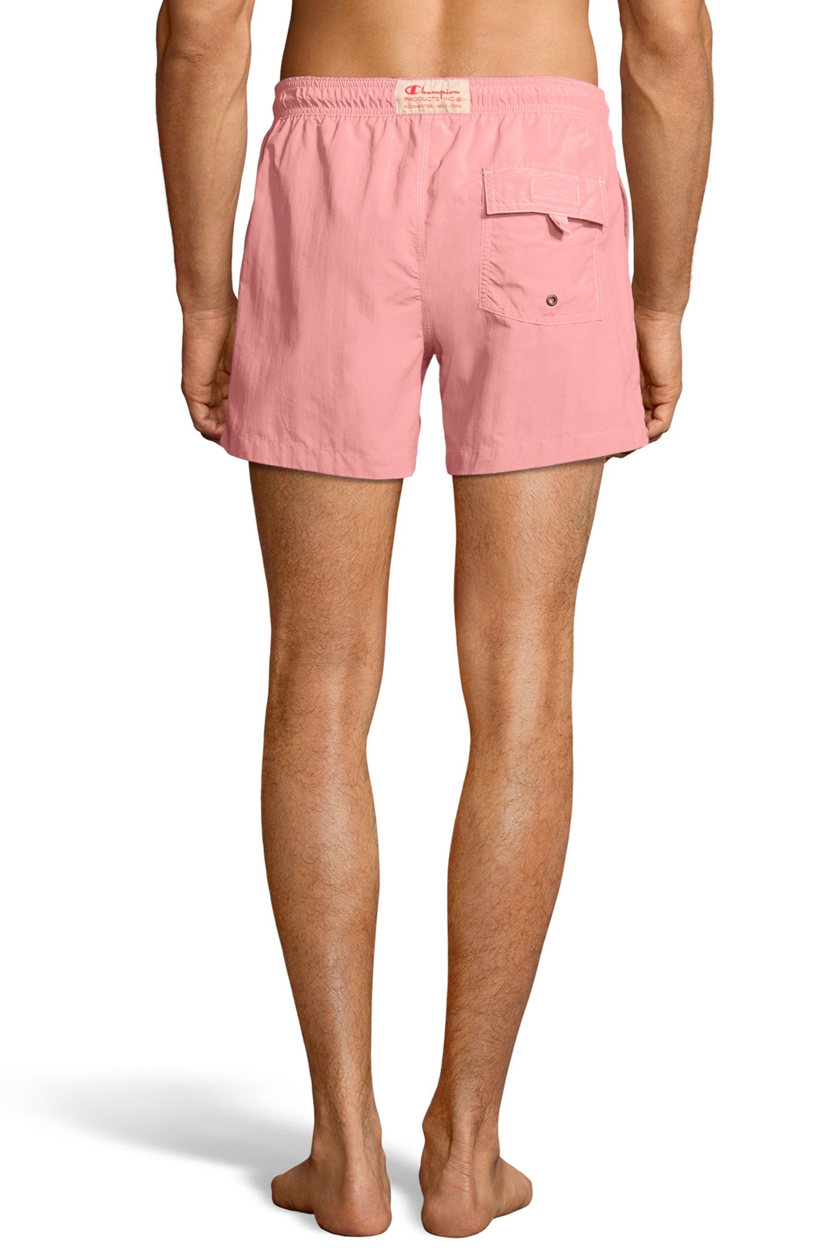 Pacific Sand Swim Trunks,                             Alternate thumbnail 2, color,                             Pink Bow