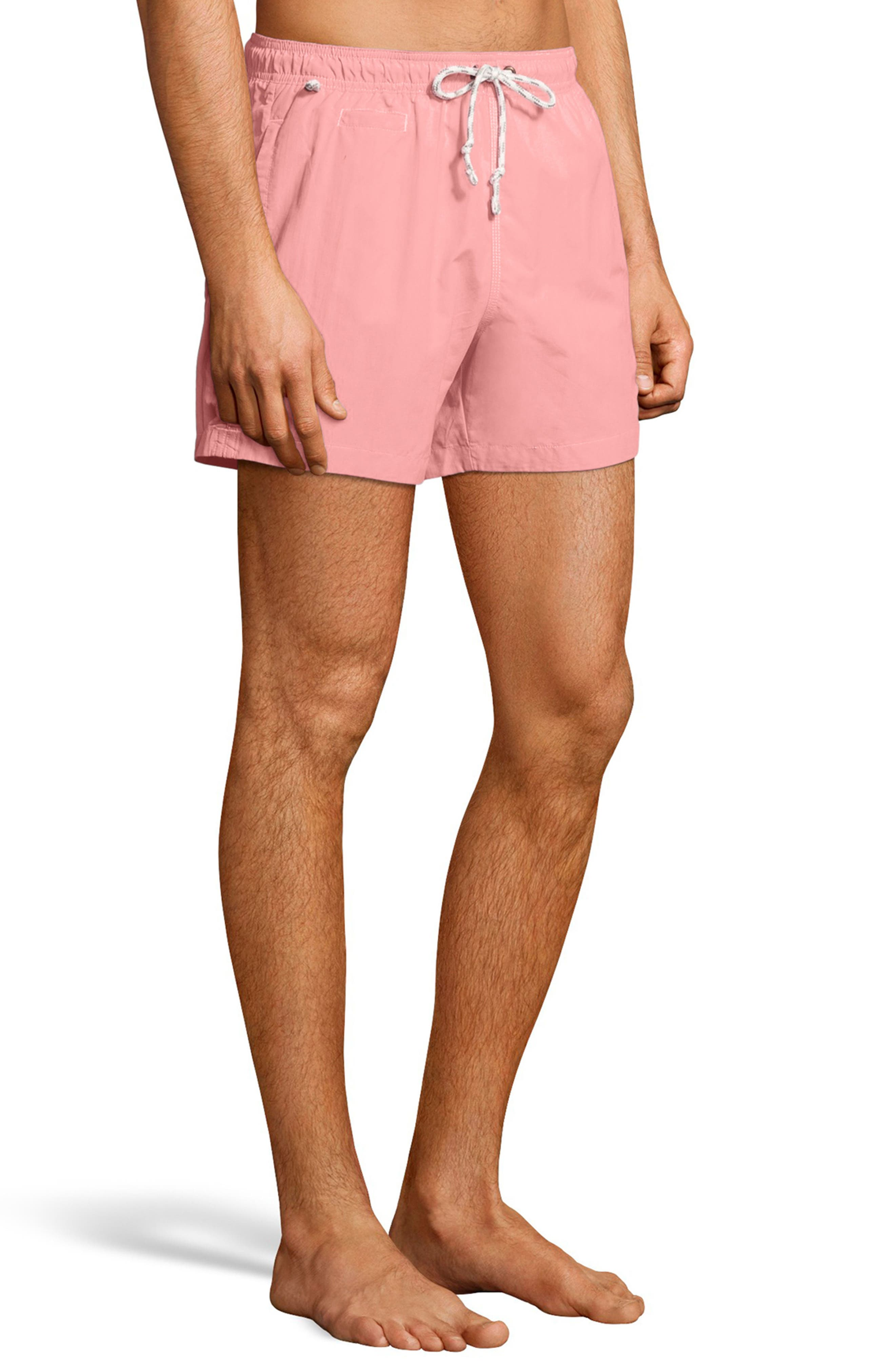 Pacific Sand Swim Trunks,                             Alternate thumbnail 3, color,                             Pink Bow