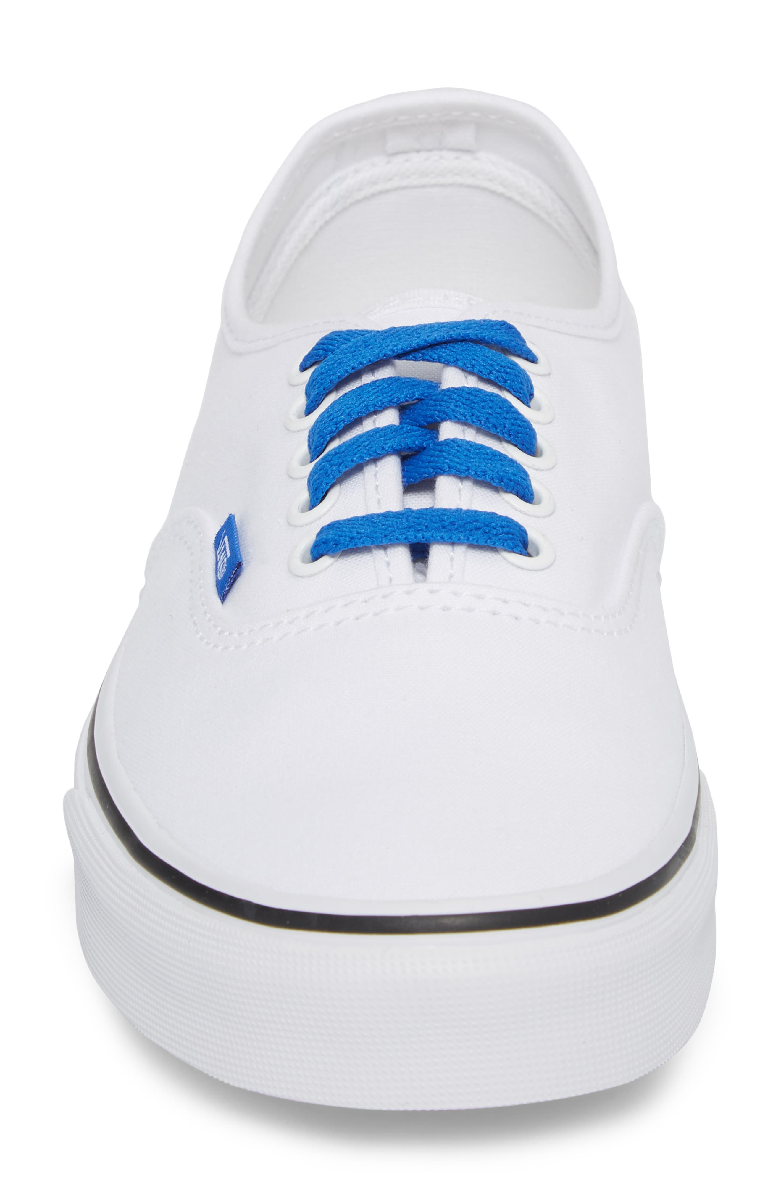 Authentic Sketch Sidewall Sneaker,                             Alternate thumbnail 4, color,                             True White/ Victoria Blue