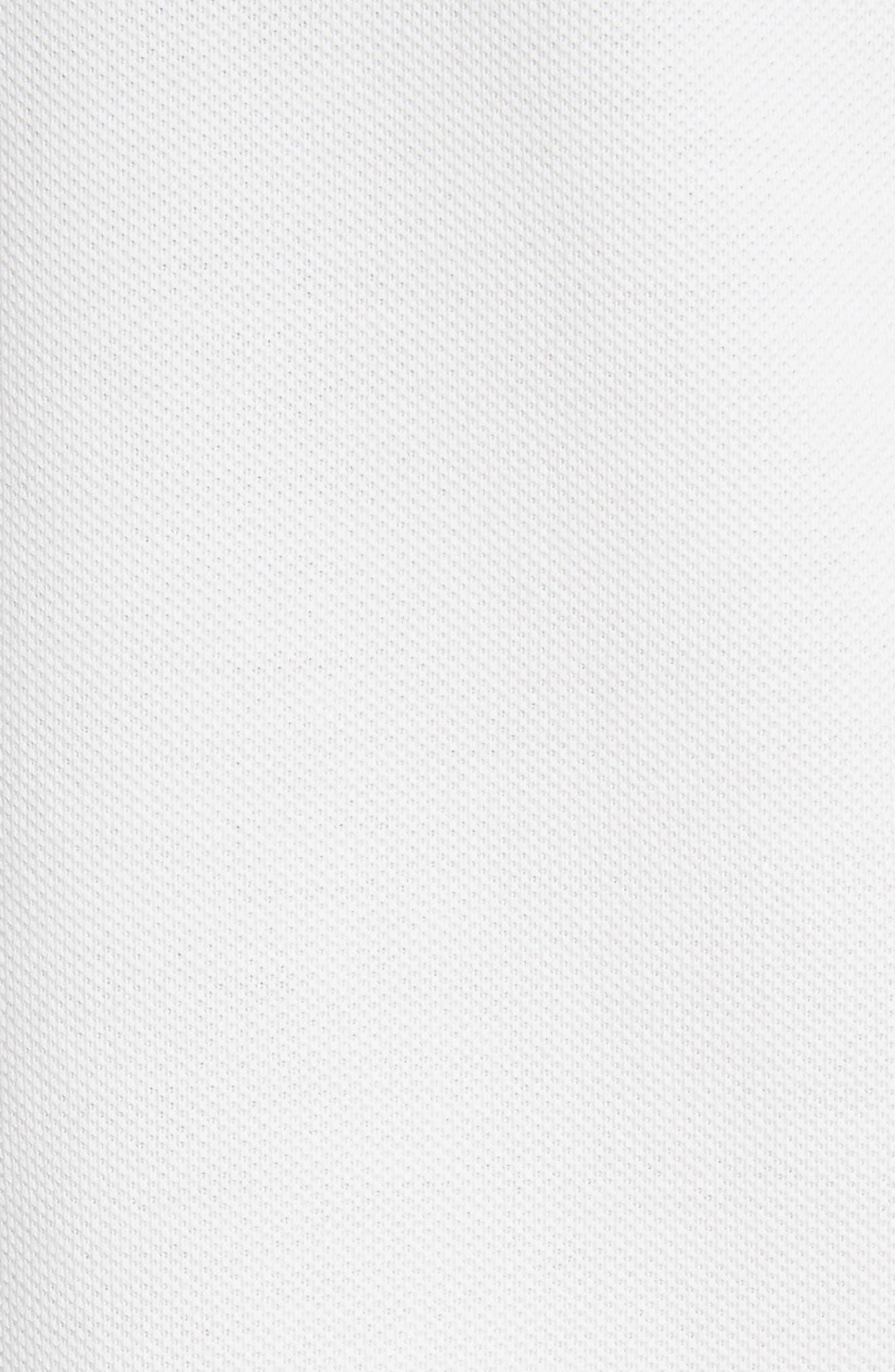 Flag Sleeve Polo,                             Alternate thumbnail 5, color,                             Ivory