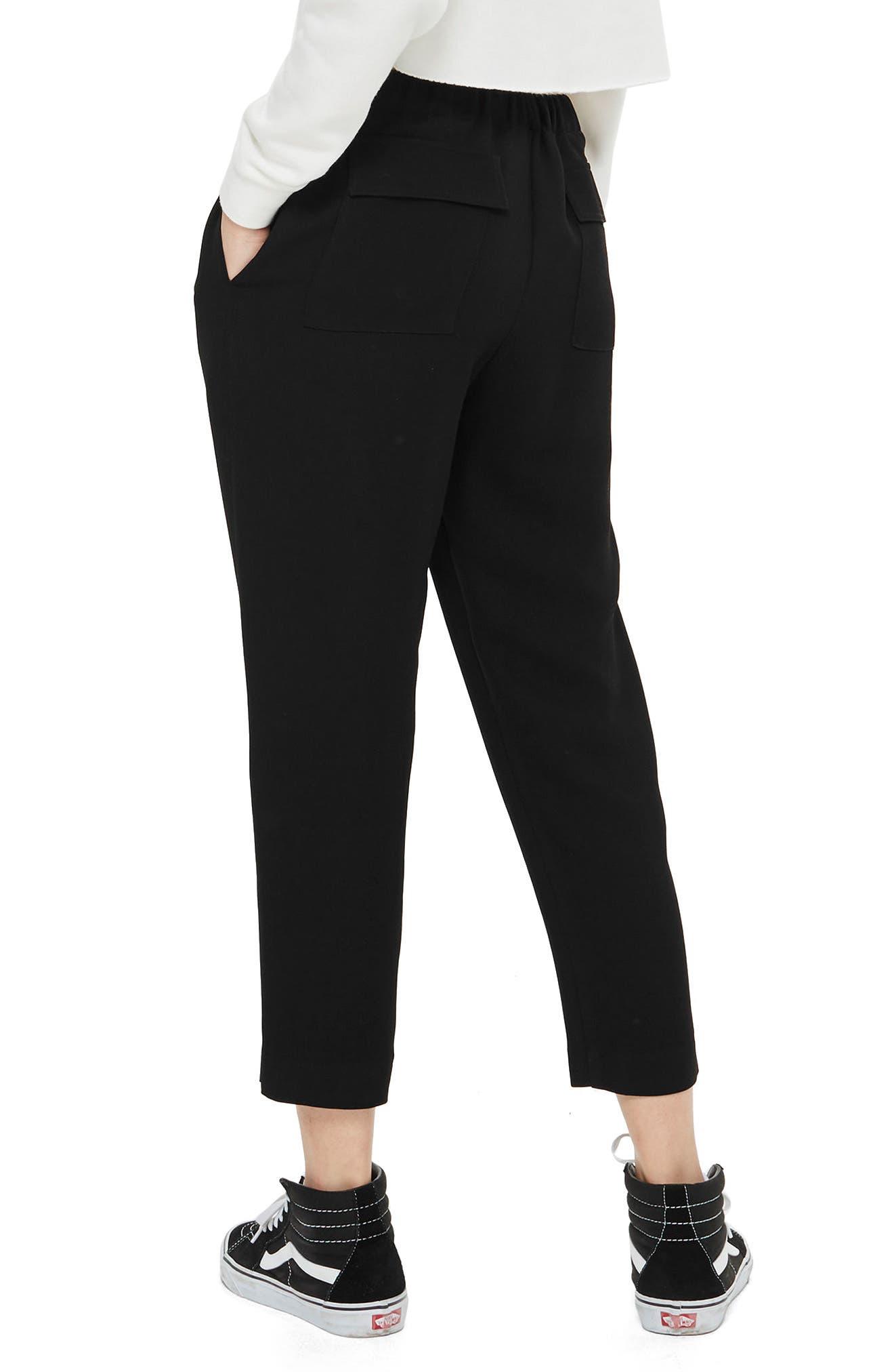 Alternate Image 2  - Topshop Boutique Drawcord Jogger Pants