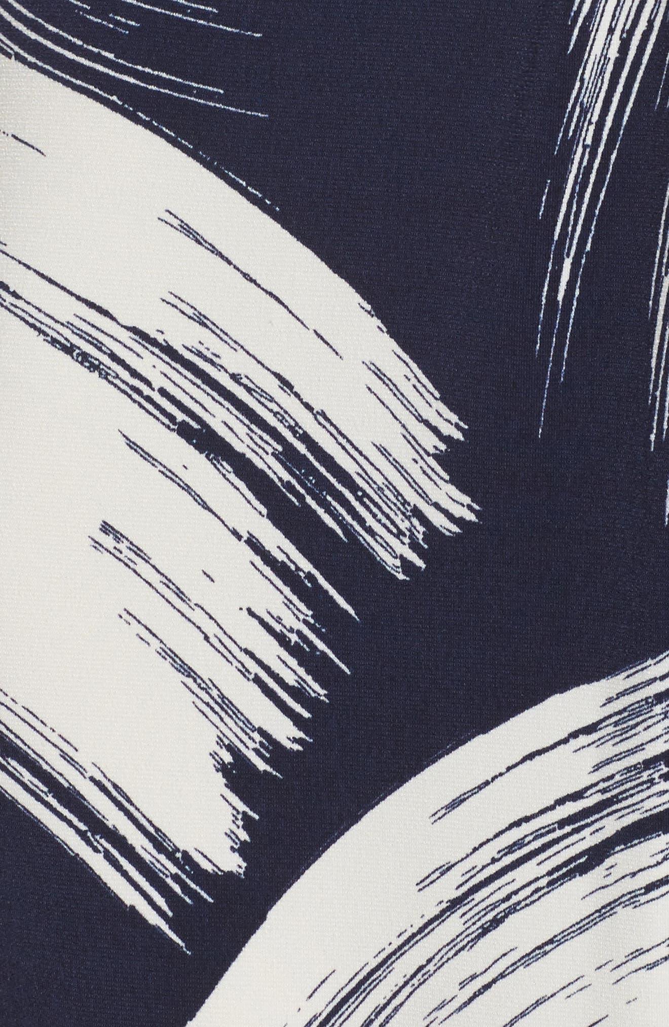 Alternate Image 5  - Eliza J Brush Print Jersey Maxi Dress