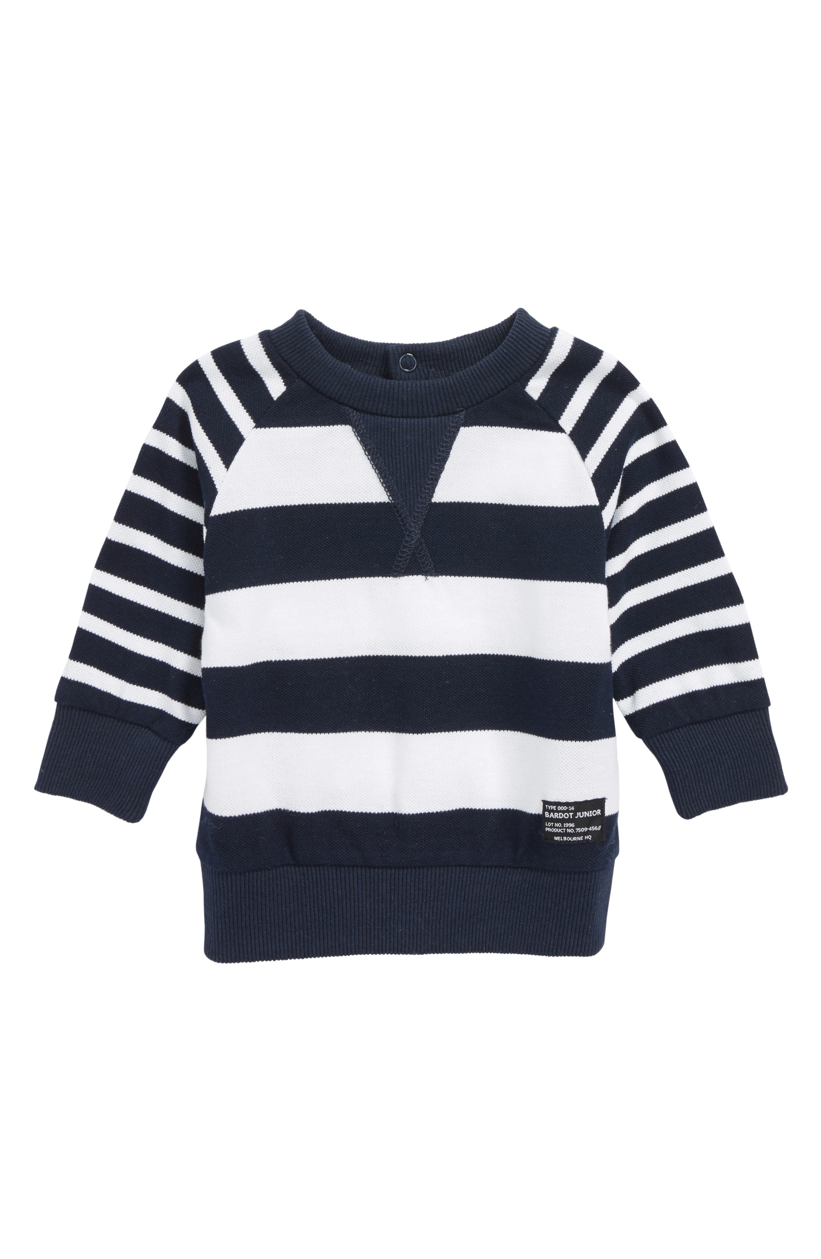 Stripe Sweater,                         Main,                         color, Navy/ White