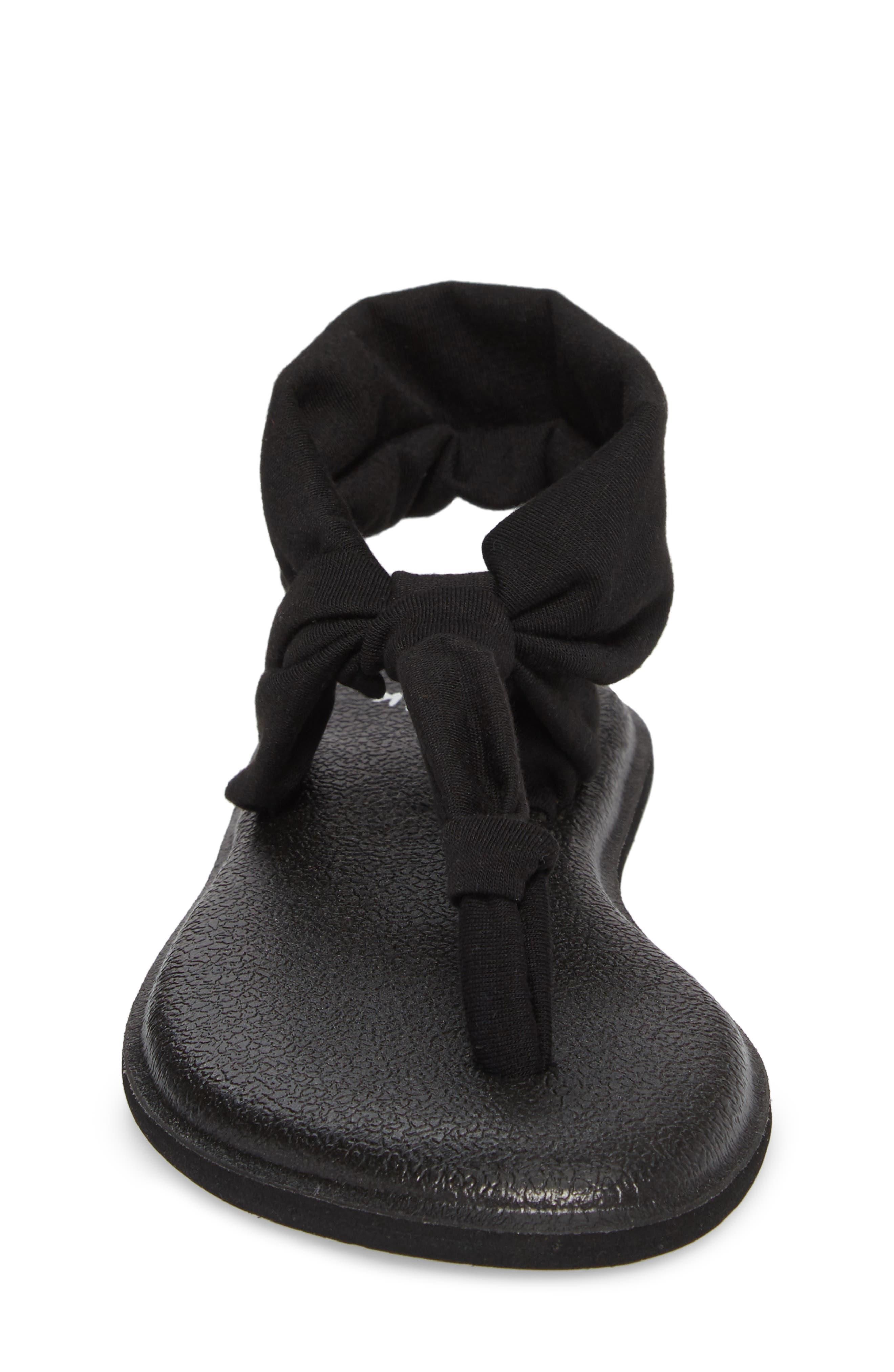 Yoga Sling Ella Sandal,                             Alternate thumbnail 4, color,                             Black