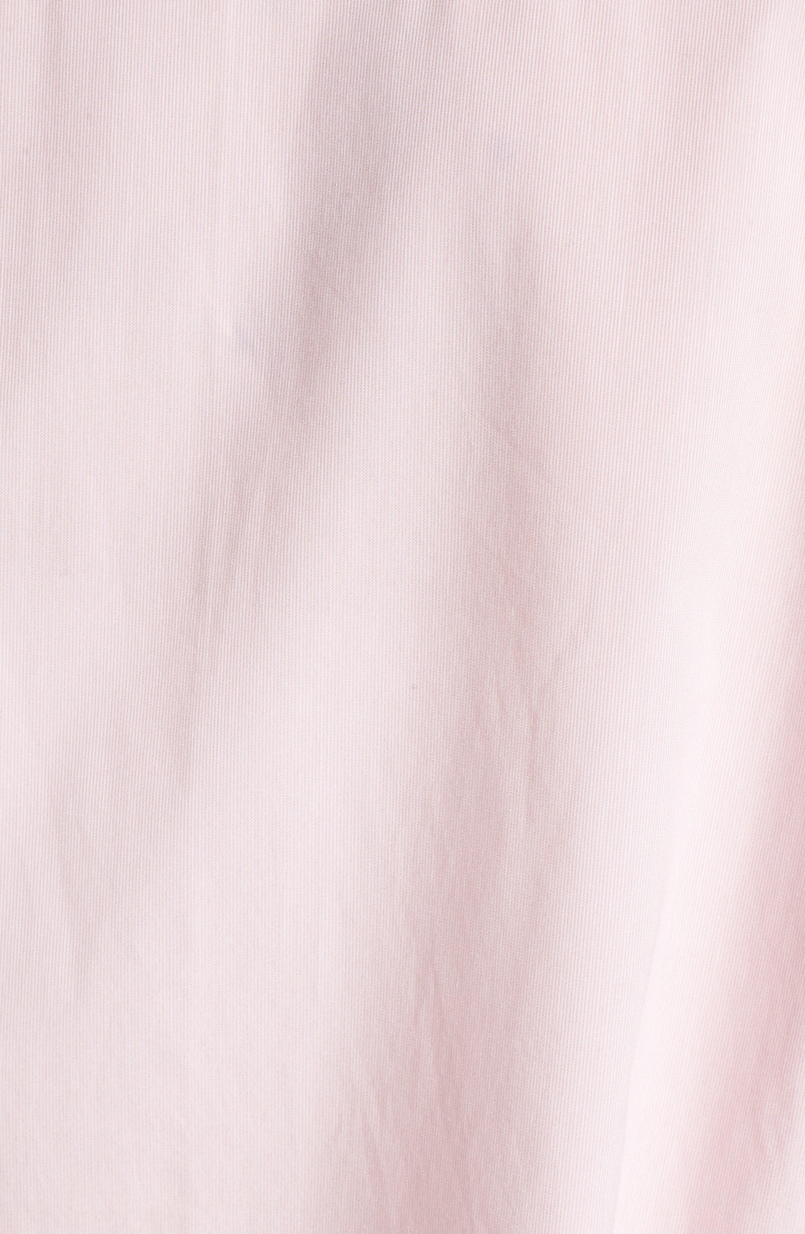 Loose Sleeve Poplin Tunic Shirt,                             Alternate thumbnail 6, color,                             Pink Silver Micro Stripe