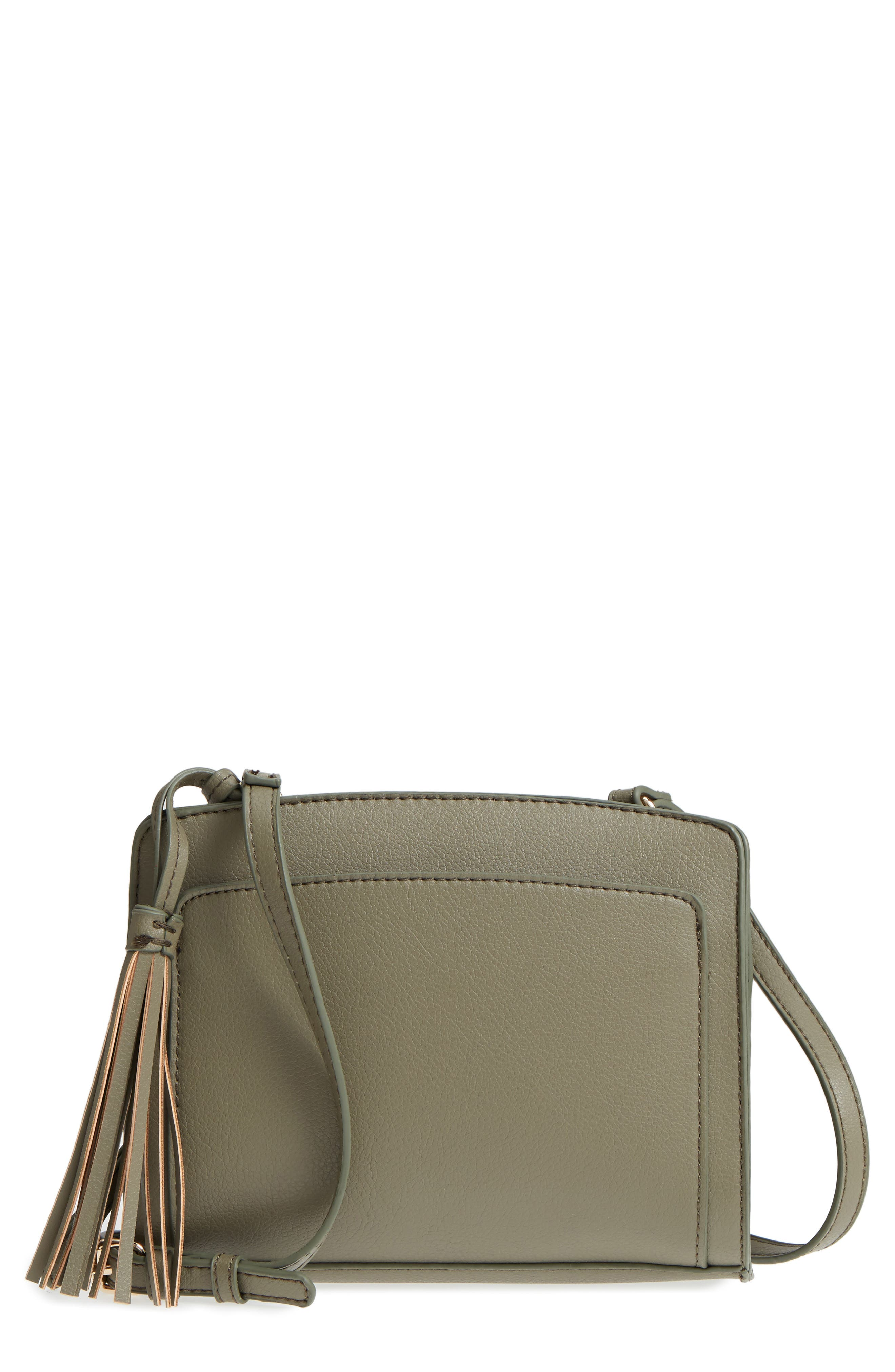 Sole Society Smooth Faux Leather Crossbody Bag