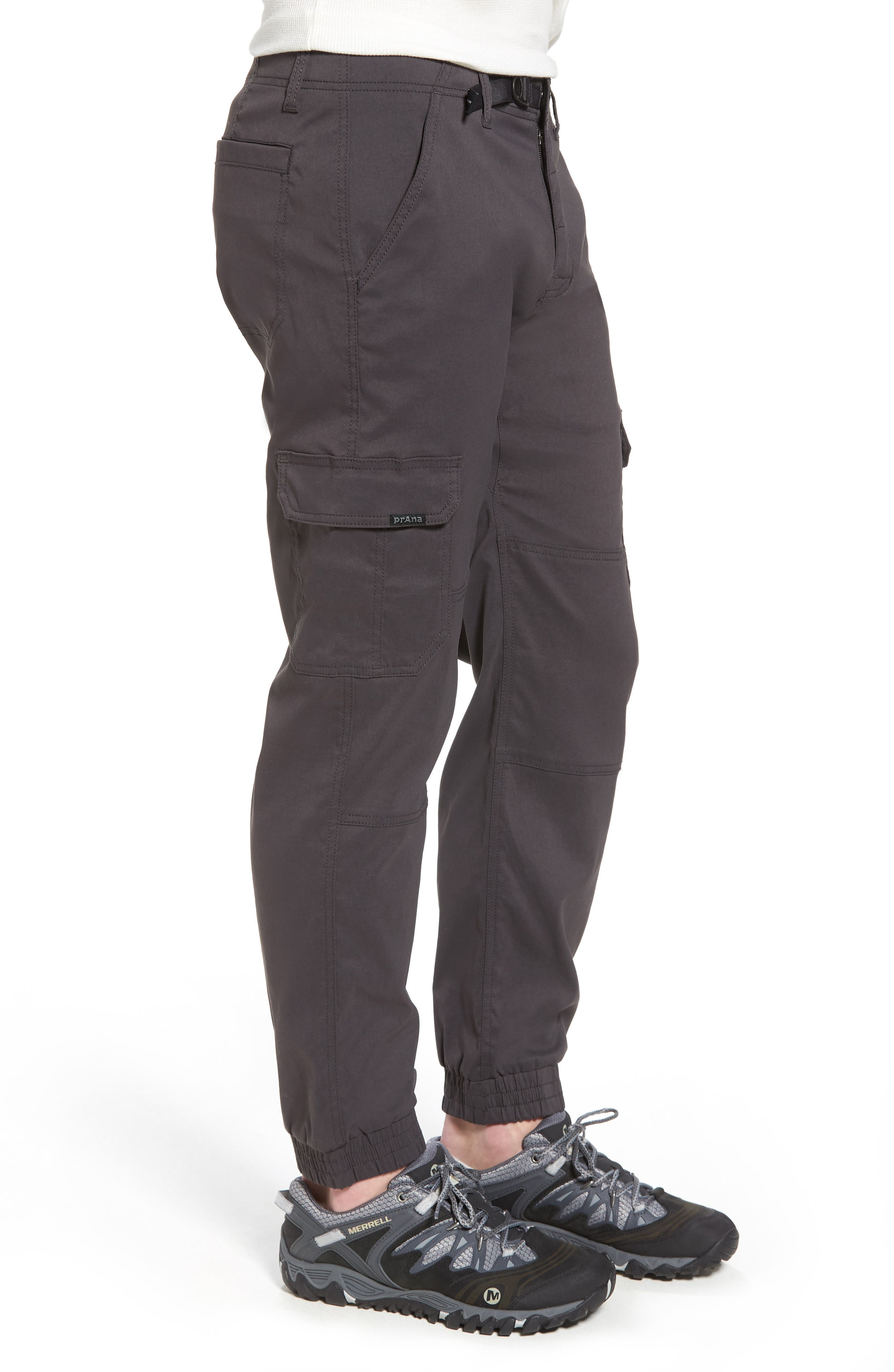 Zion Water Repellent Stretch Jogger Pants,                             Alternate thumbnail 3, color,                             Charcoal