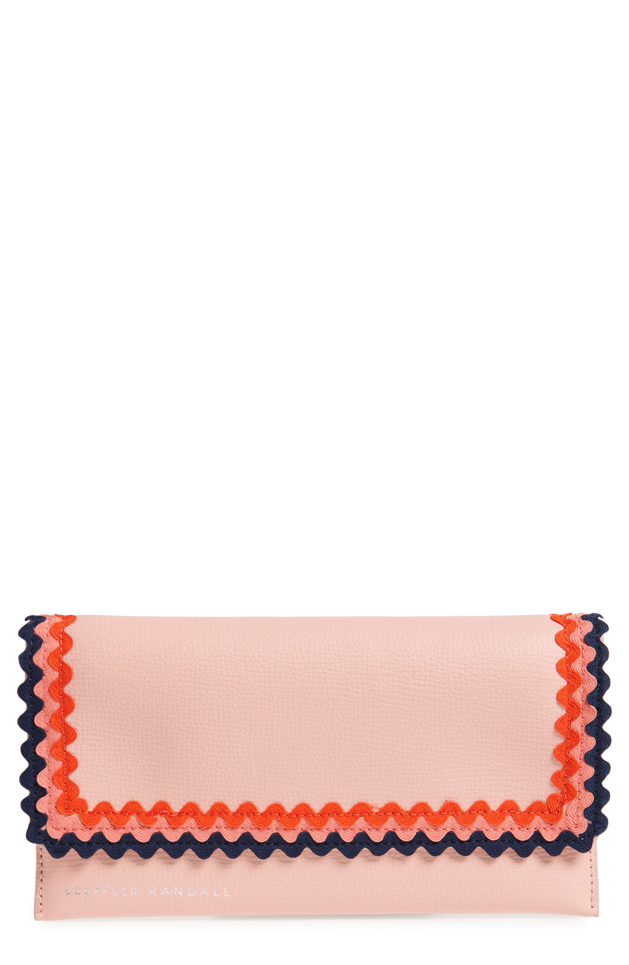 Eveything Embellished Leather Wallet,                             Main thumbnail 1, color,                             Ballet/ Multi