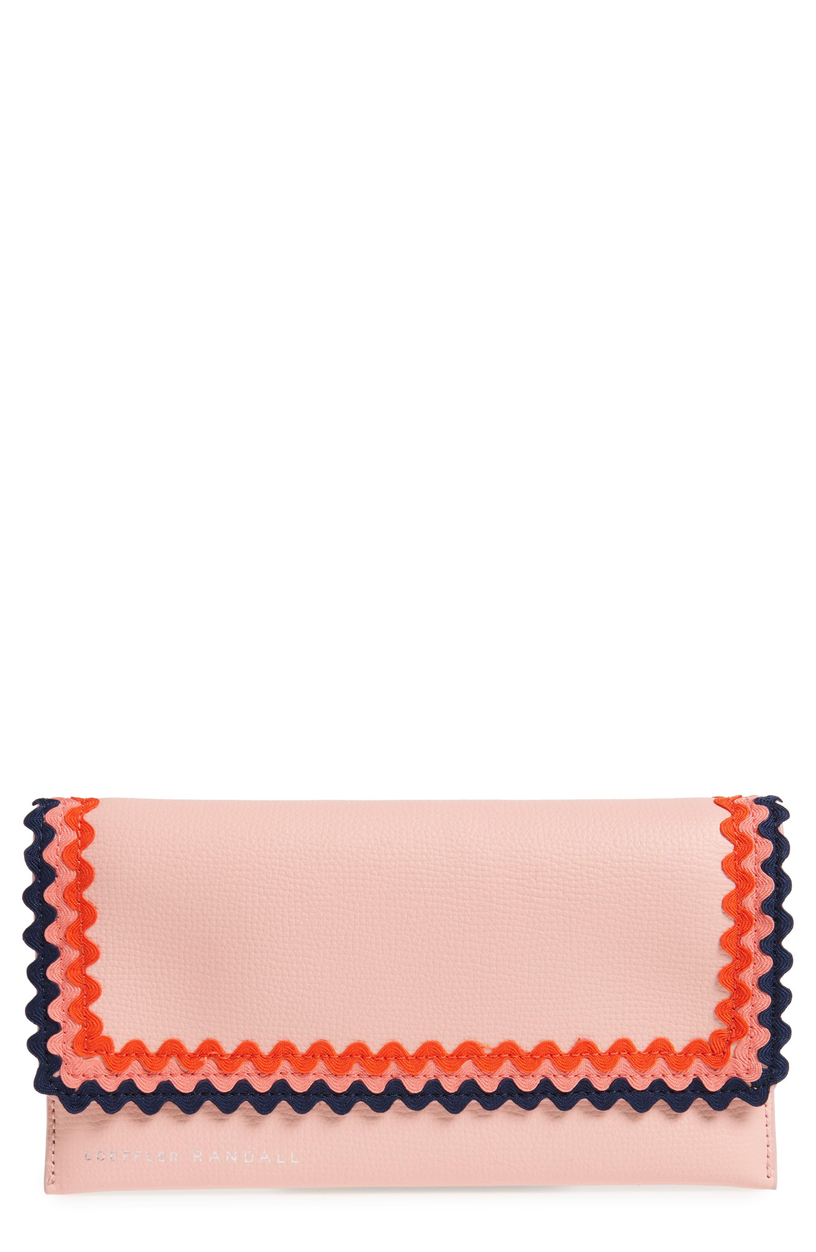 Eveything Embellished Leather Wallet,                         Main,                         color, Ballet/ Multi