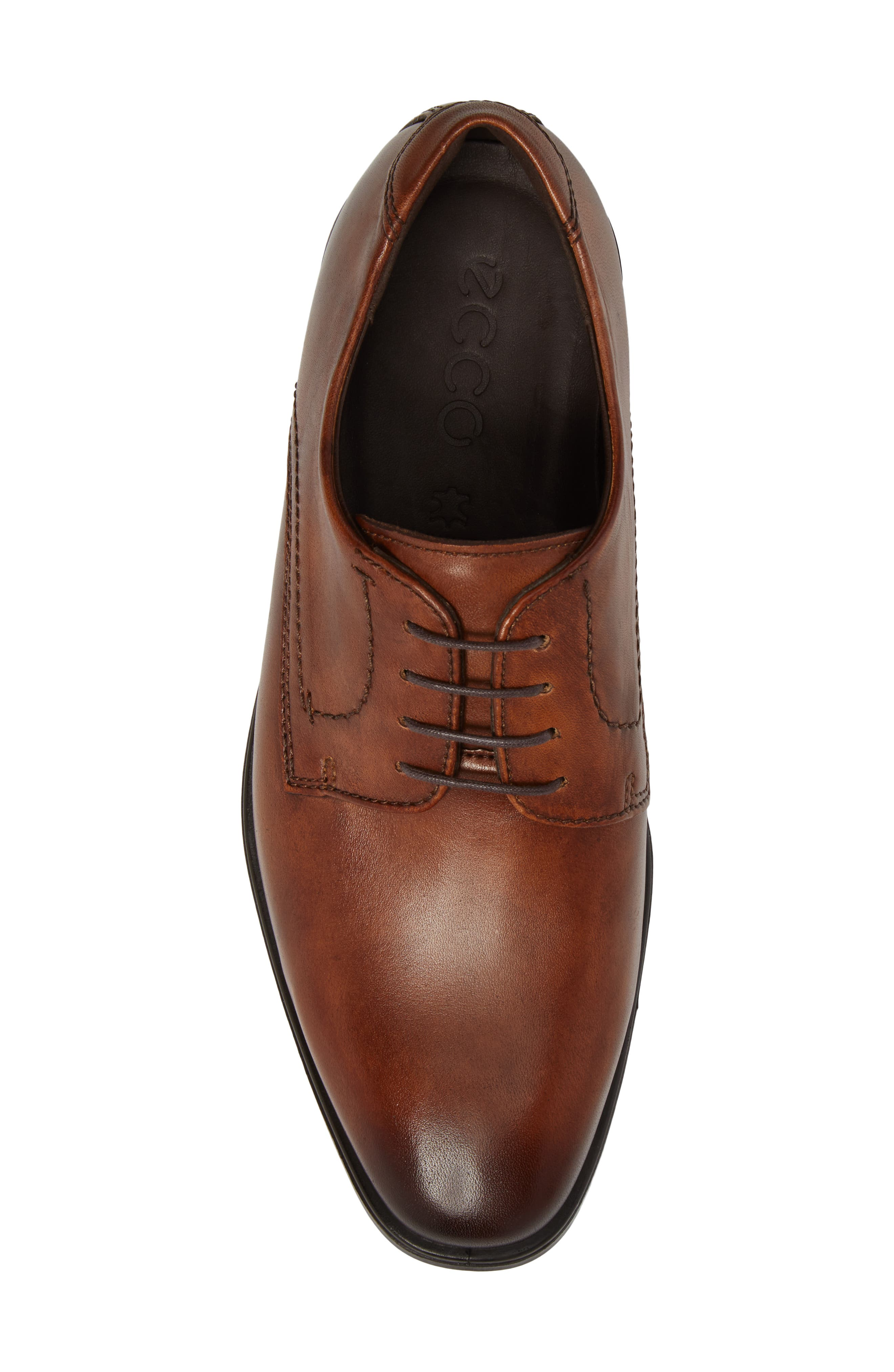 Melbourne Plain Toe Derby,                             Alternate thumbnail 5, color,                             Amber Leather