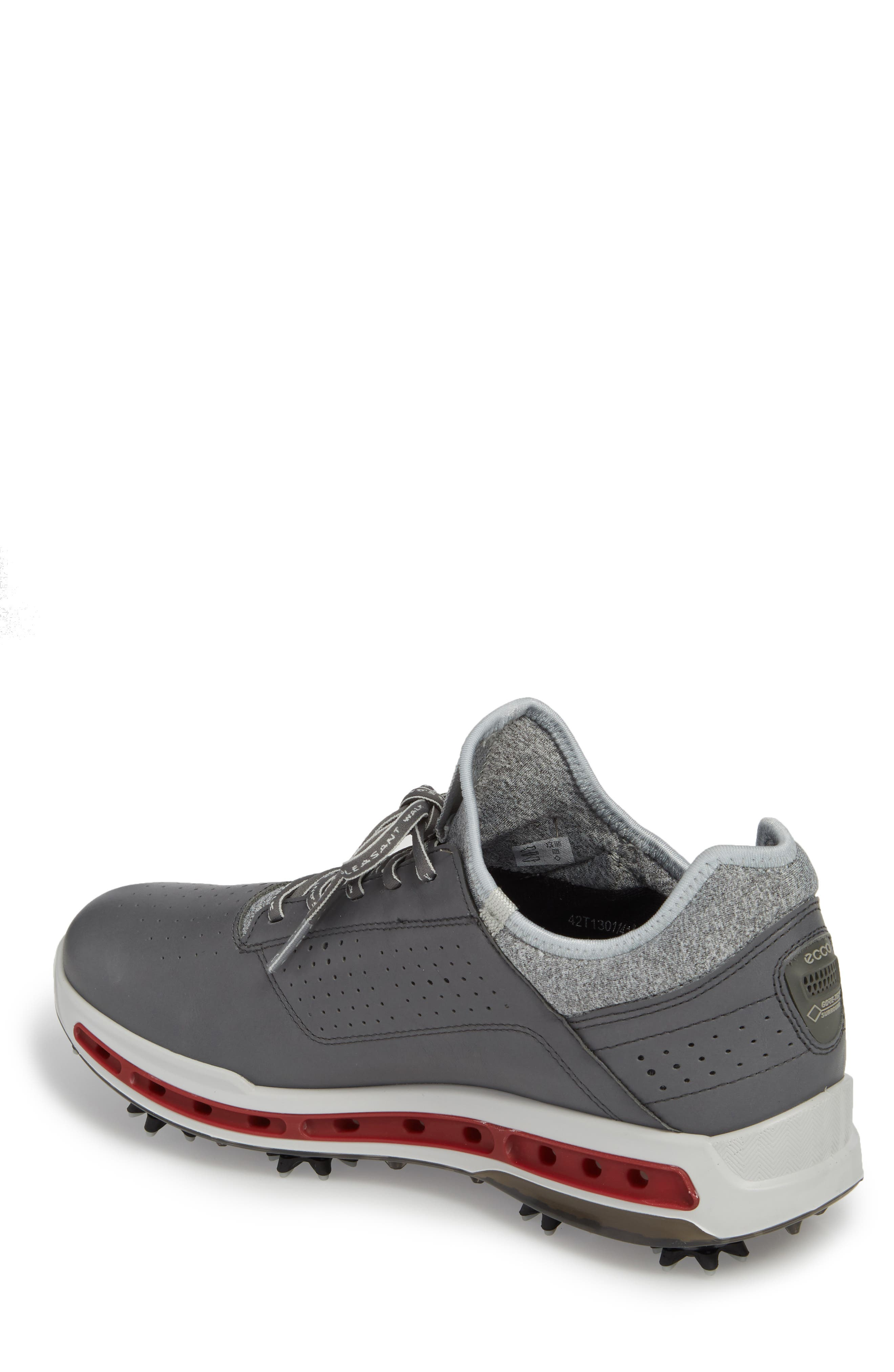 Cool 18 Gore-Tex Golf Shoe,                             Alternate thumbnail 2, color,                             Dark Shadow Leather