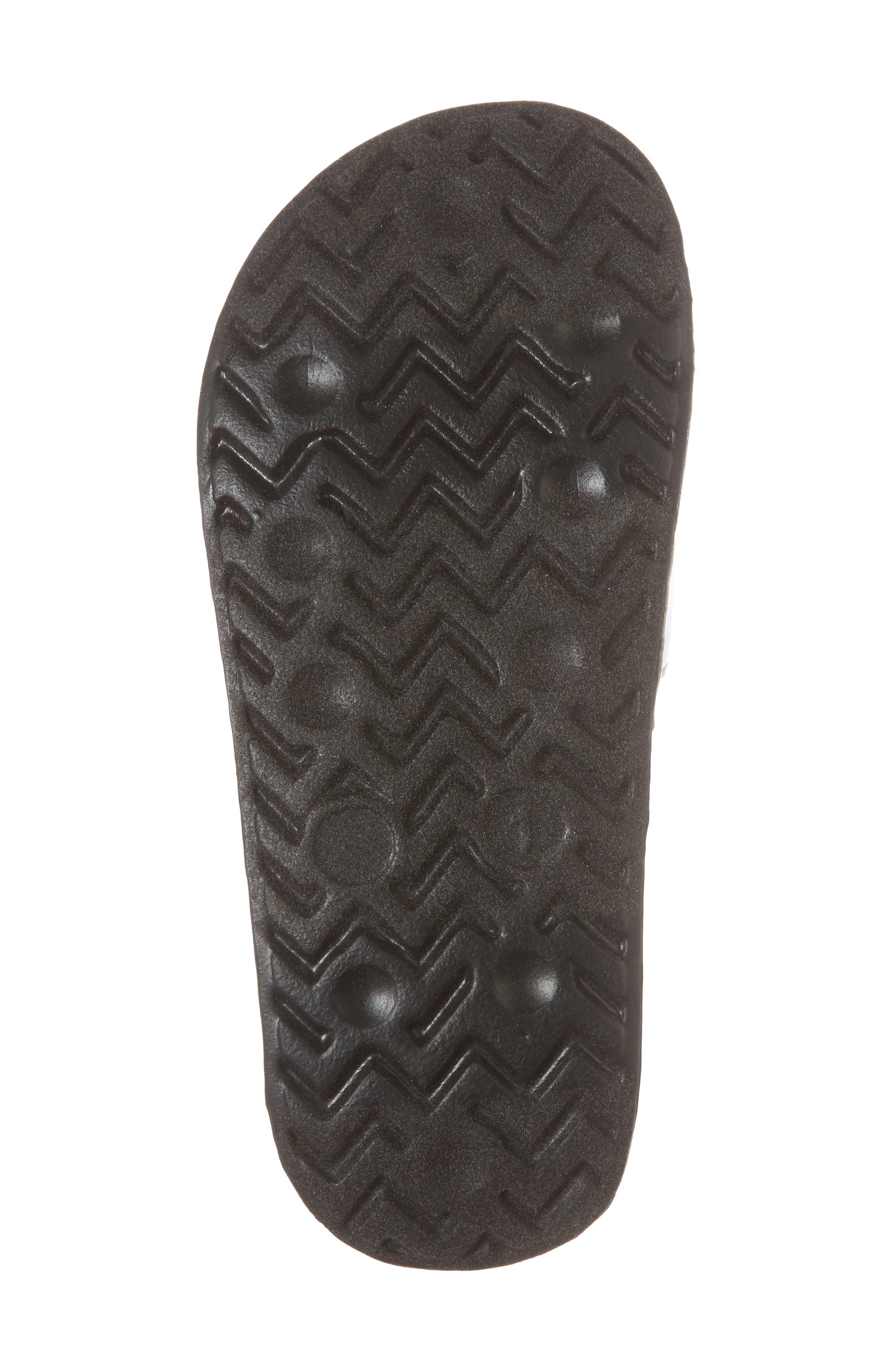 Mackie Pineapple Metallic Slide Sandal,                             Alternate thumbnail 6, color,                             Silver Holographic Leather