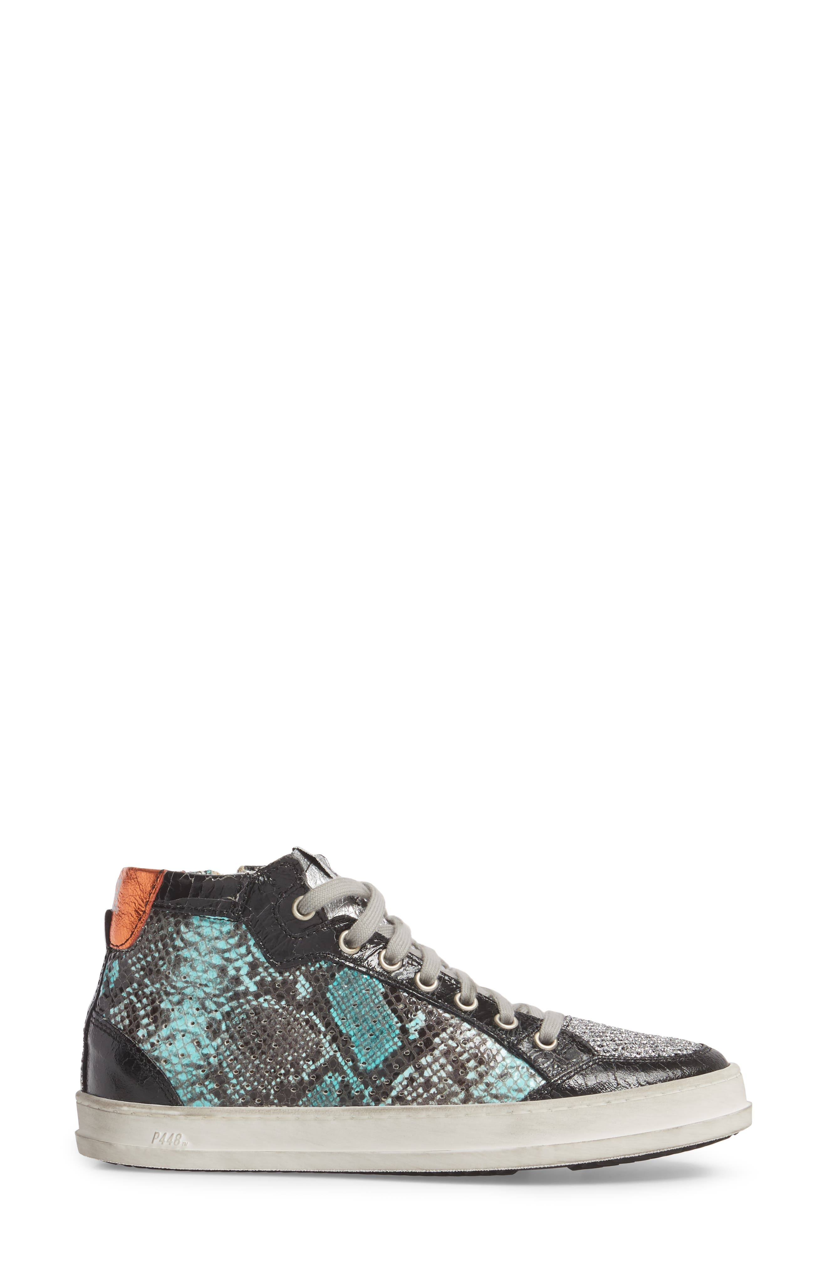 Love High Top Sneaker,                             Alternate thumbnail 3, color,                             Clepton