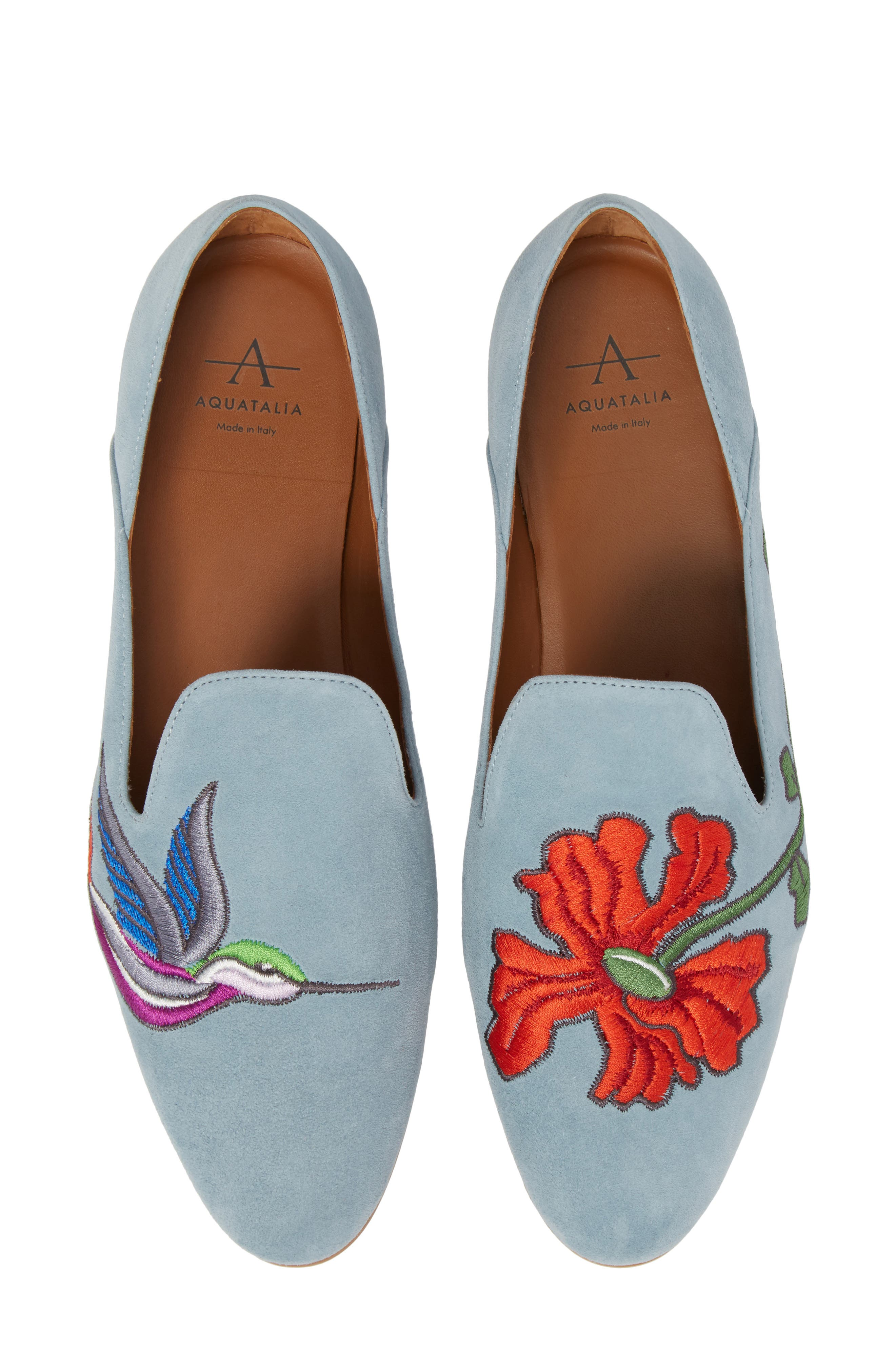 Emmaline Embroidered Loafer,                             Main thumbnail 1, color,                             Chambray