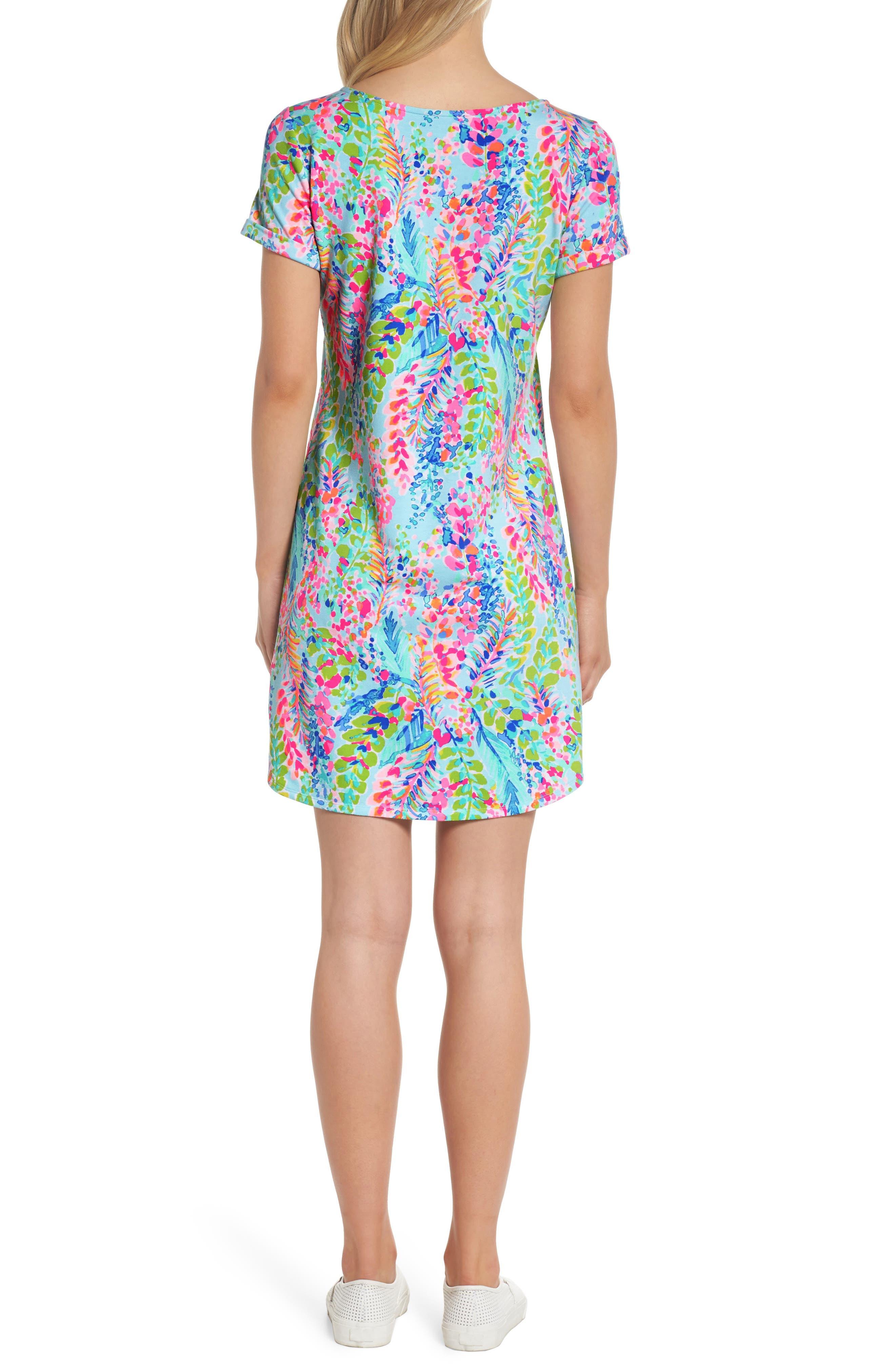 Tammy UPF 50+ Print Shift Dress,                             Alternate thumbnail 2, color,                             Multi Catch The Wave