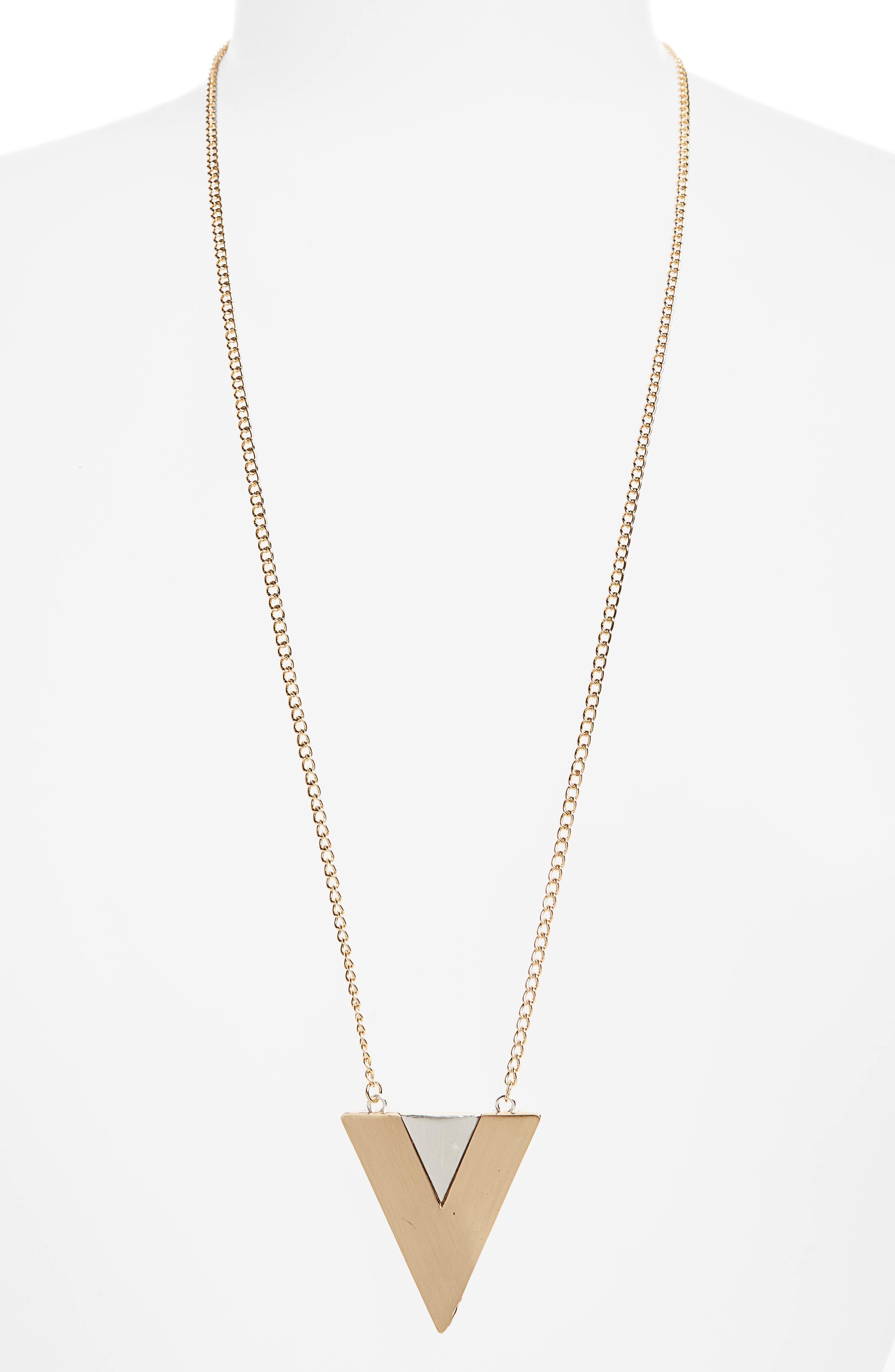 Natasha Triangle Pendant Necklace