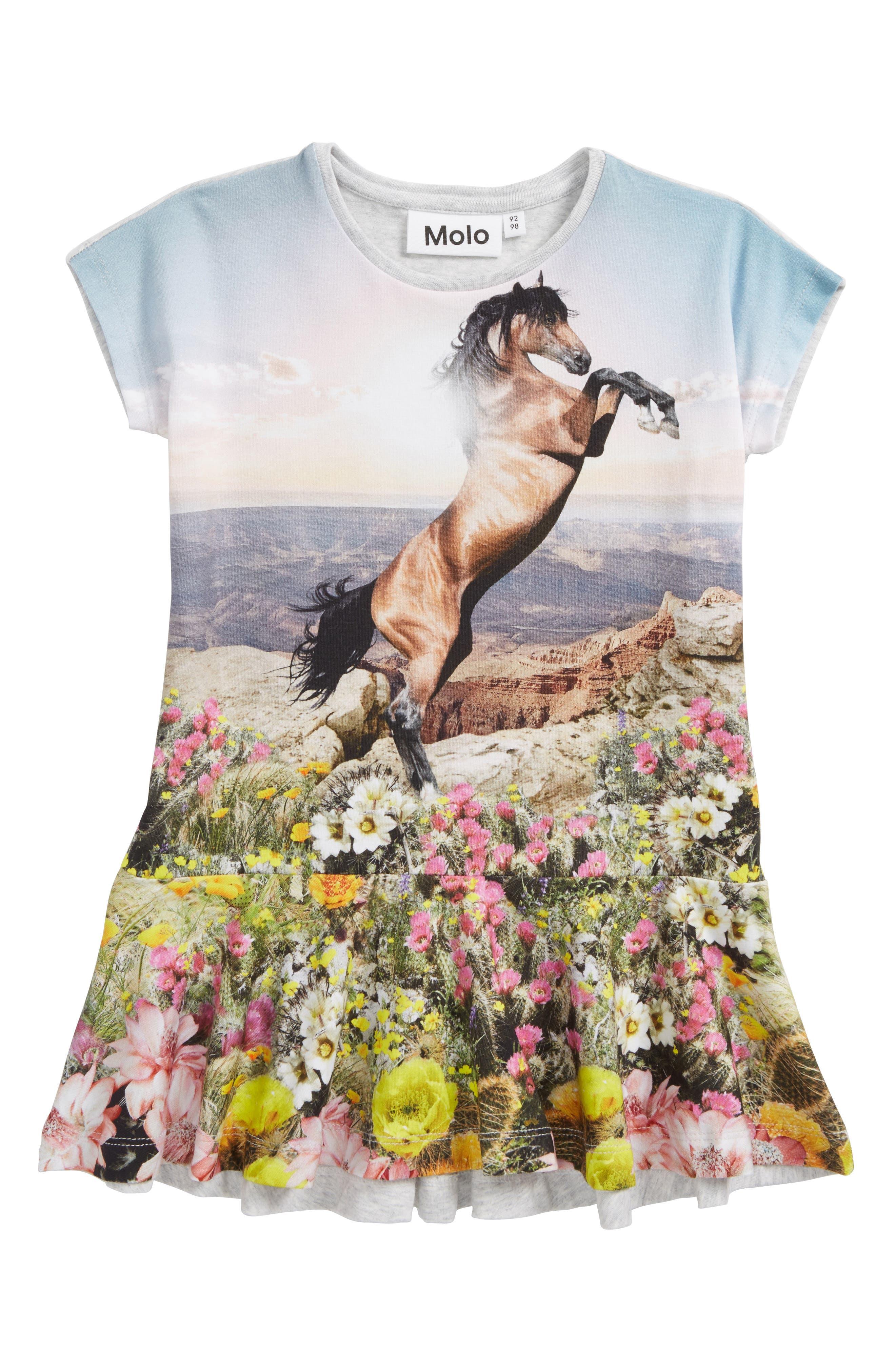 Caeley Horse Dress,                             Main thumbnail 1, color,                             Mountain Horse