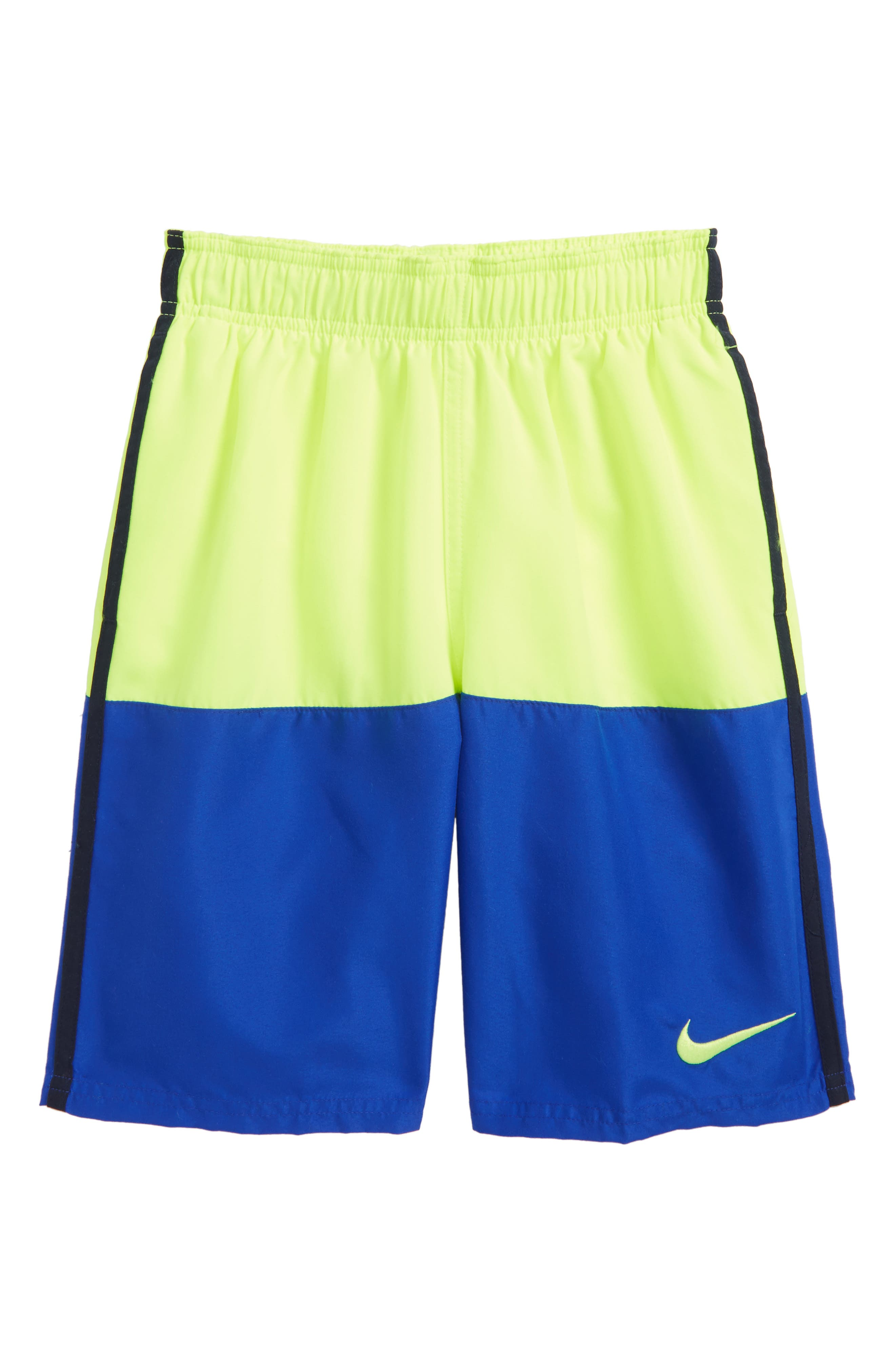 Split Volley Shorts,                             Main thumbnail 1, color,                             Volt