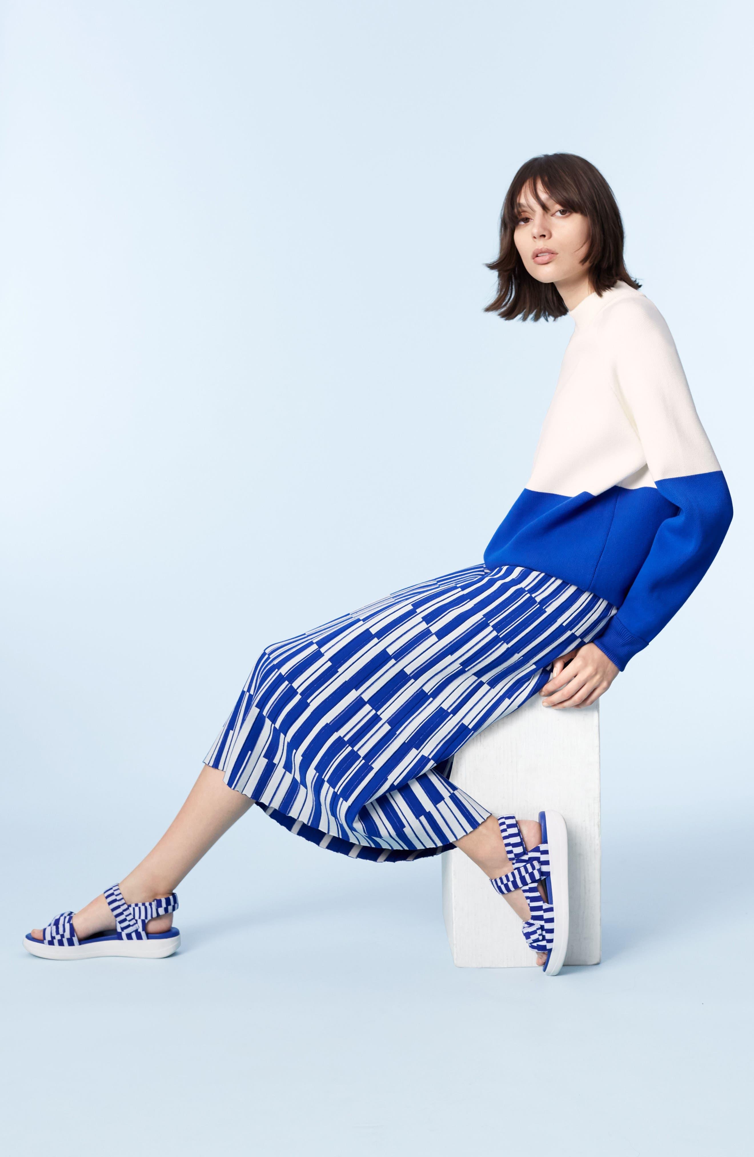 Colorblock Raglan Sweater,                             Alternate thumbnail 2, color,                             Snow White/ Slalom Blue