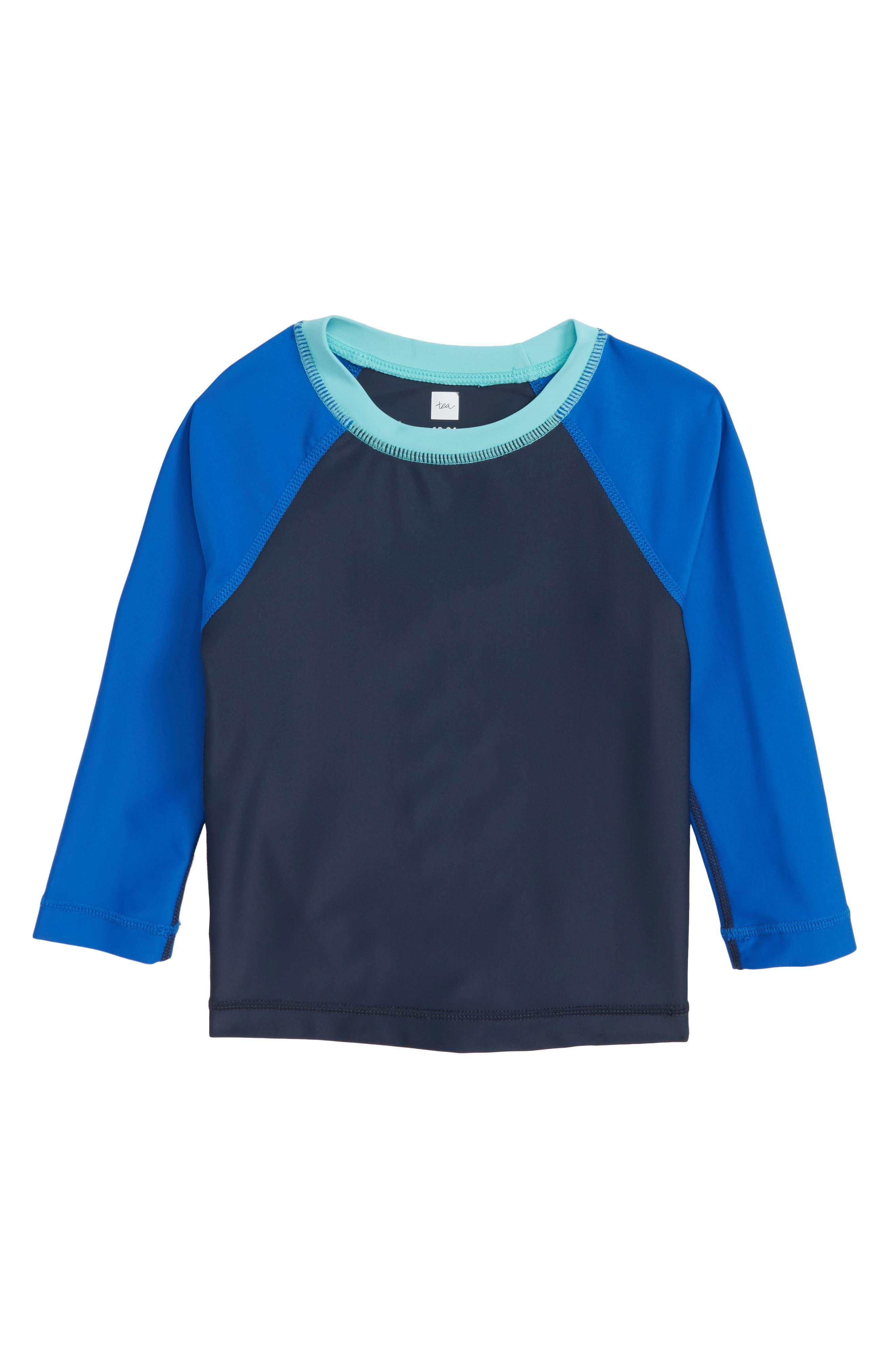 Raglan Long Sleeve Rashguard,                         Main,                         color, Indigo
