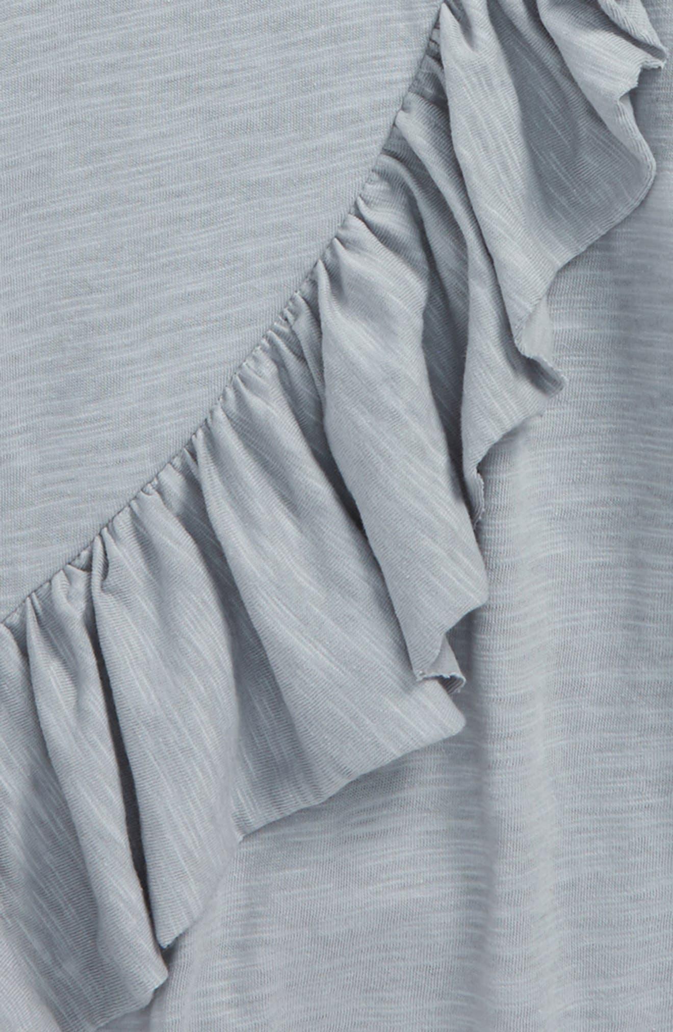 Silverlake Asymmetrical Ruffle Top,                             Alternate thumbnail 2, color,                             Light Blue