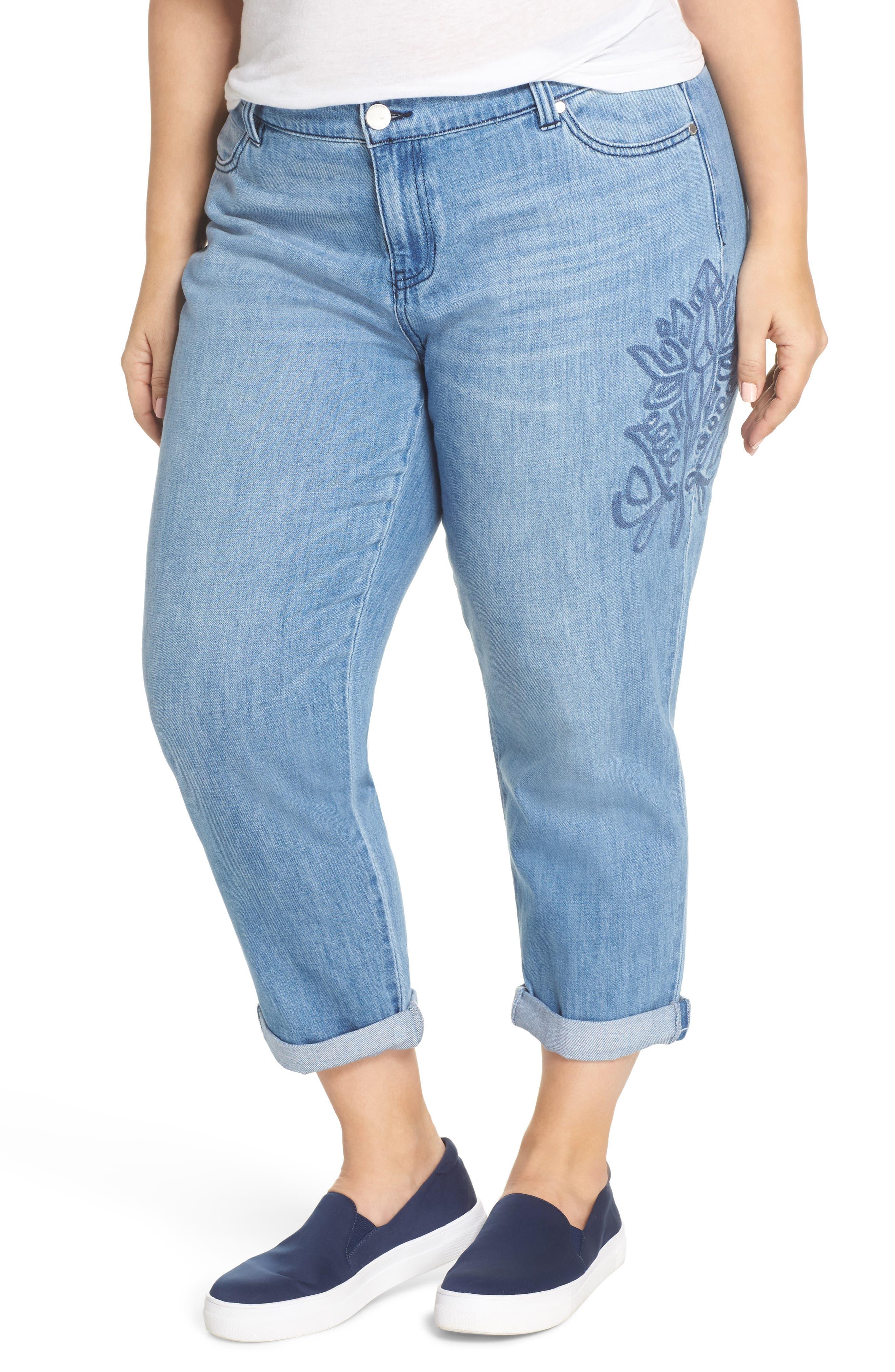 Cameron Crop Boyfriend Jeans,                         Main,                         color, Skyline