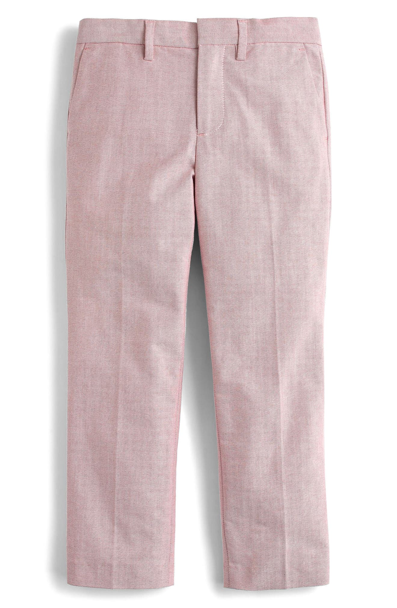Ludlow Stretch Oxford Suit Pants,                         Main,                         color, Light Red