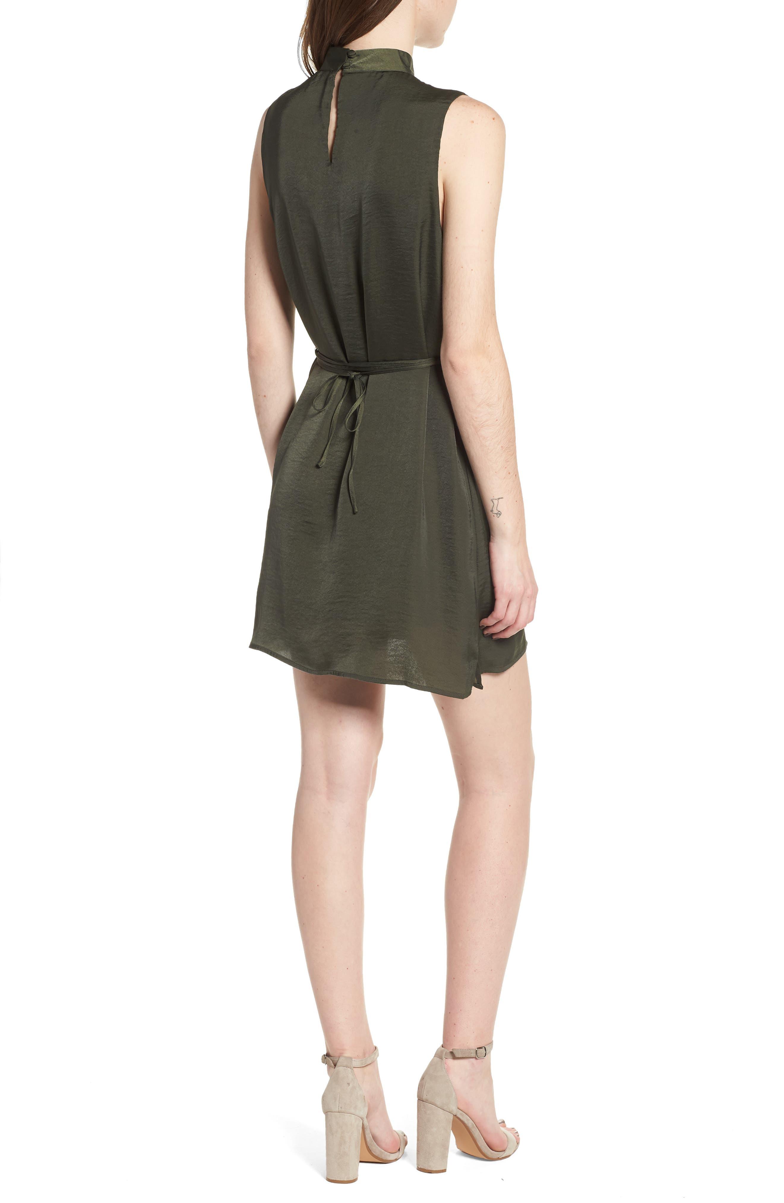 Hansel Sleeveless Dress,                             Alternate thumbnail 2, color,                             Army